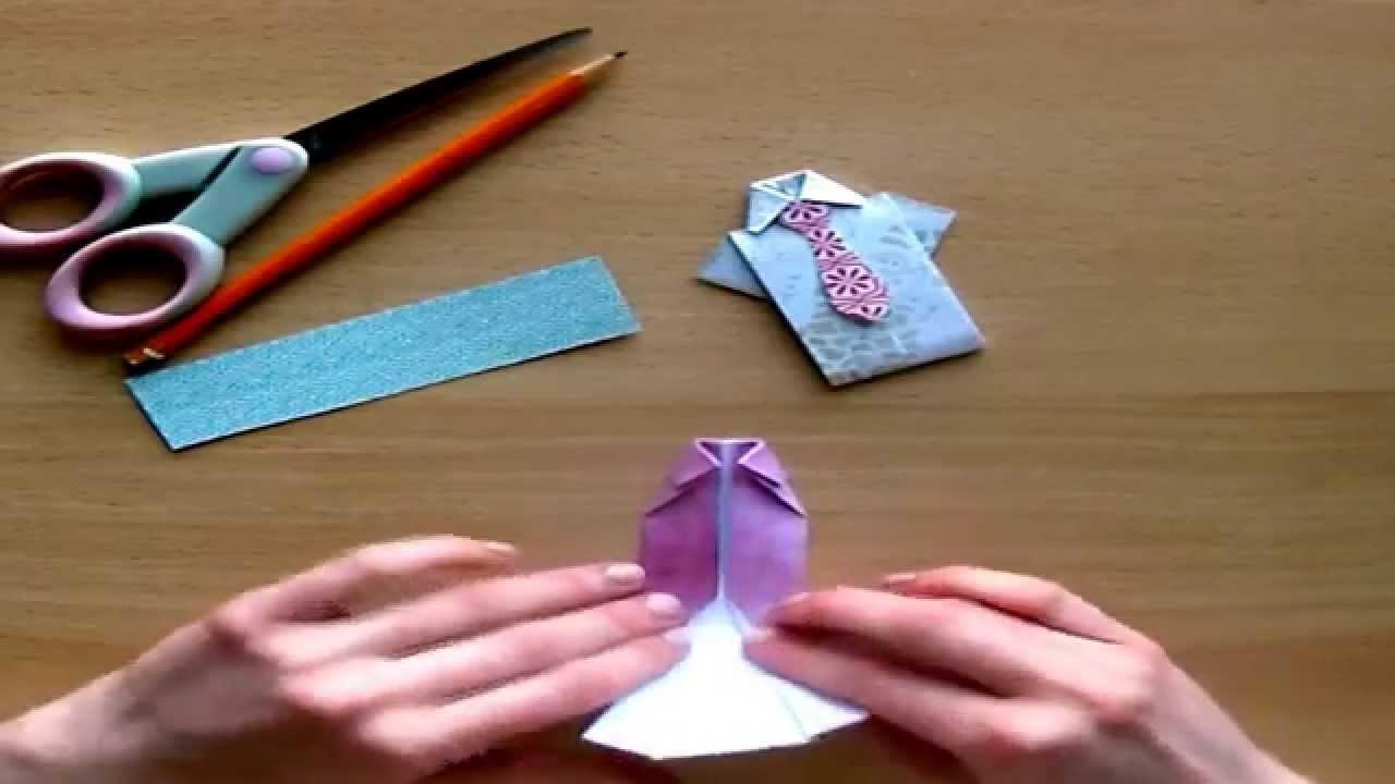 Diy Craft Tutorial Fathers Day Origami Shirt Tie