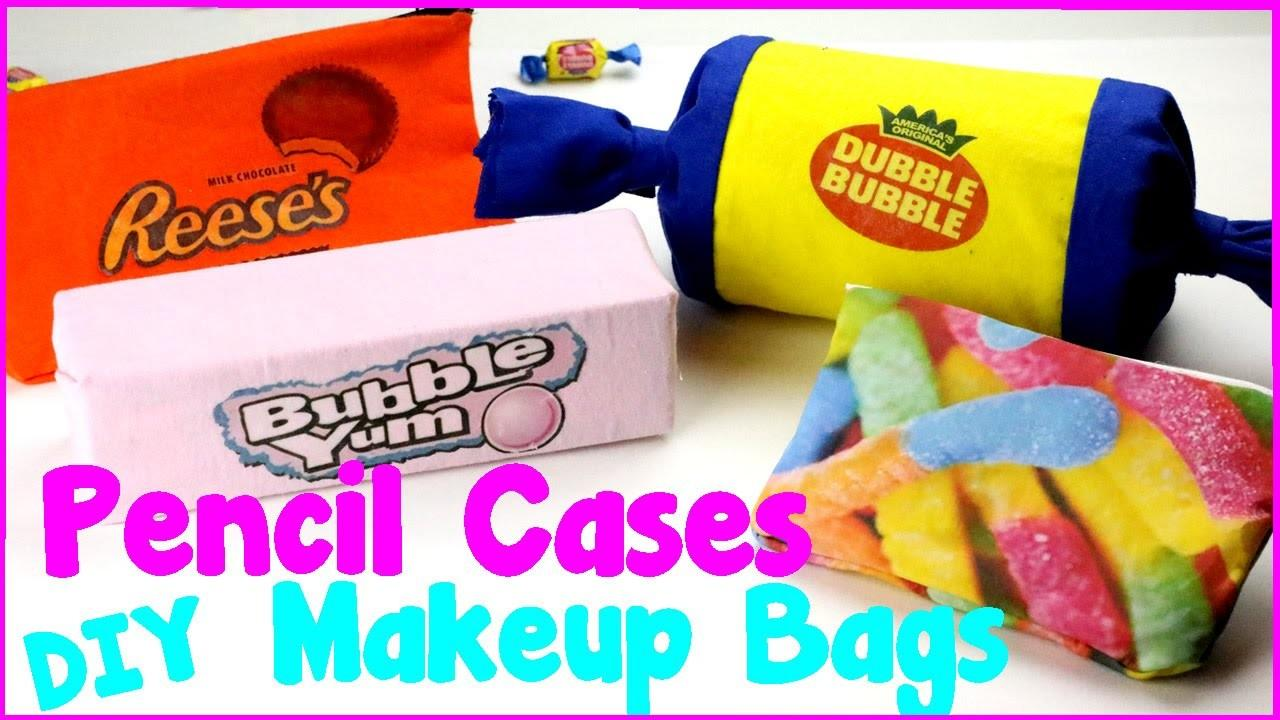 Diy Crafts Easy Candy Pencil Cases Makeup Bags