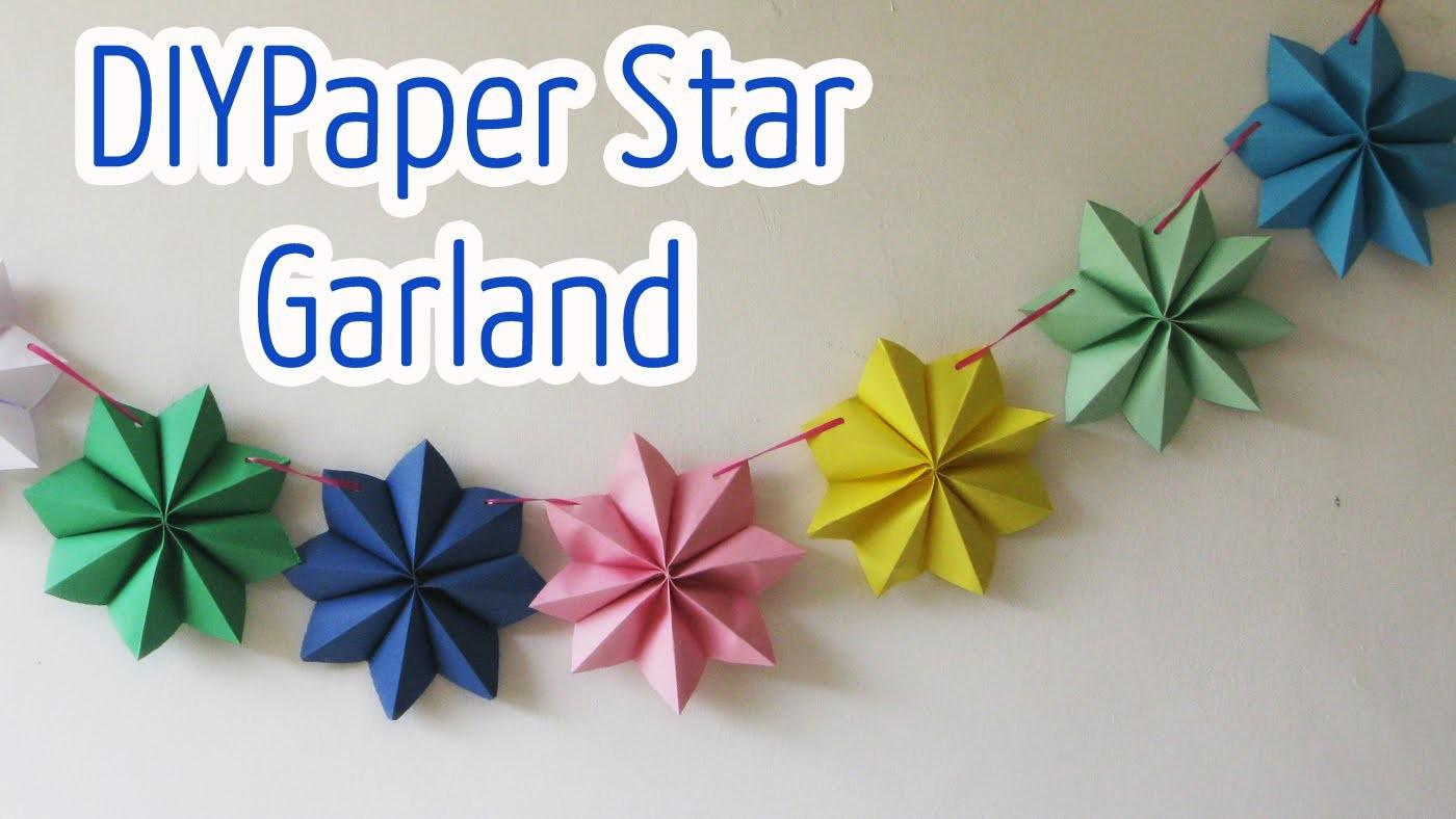 Diy Crafts Paper Stars Garland Ana