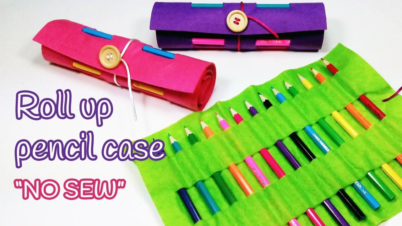 Diy Crafts Roll Pencil Case Back School Innova