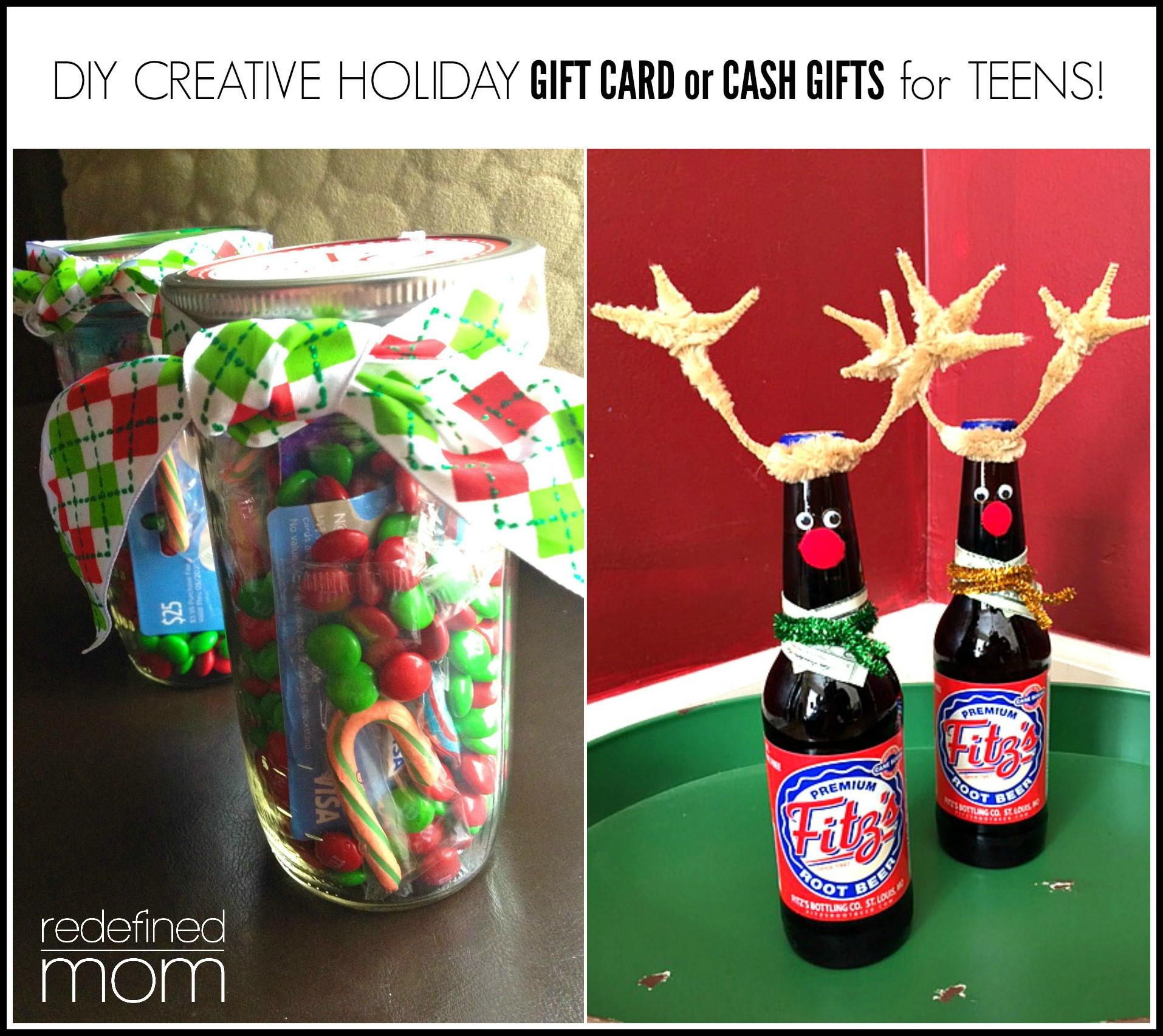 Diy Creative Holiday Gift Card Cash Gifts Teens