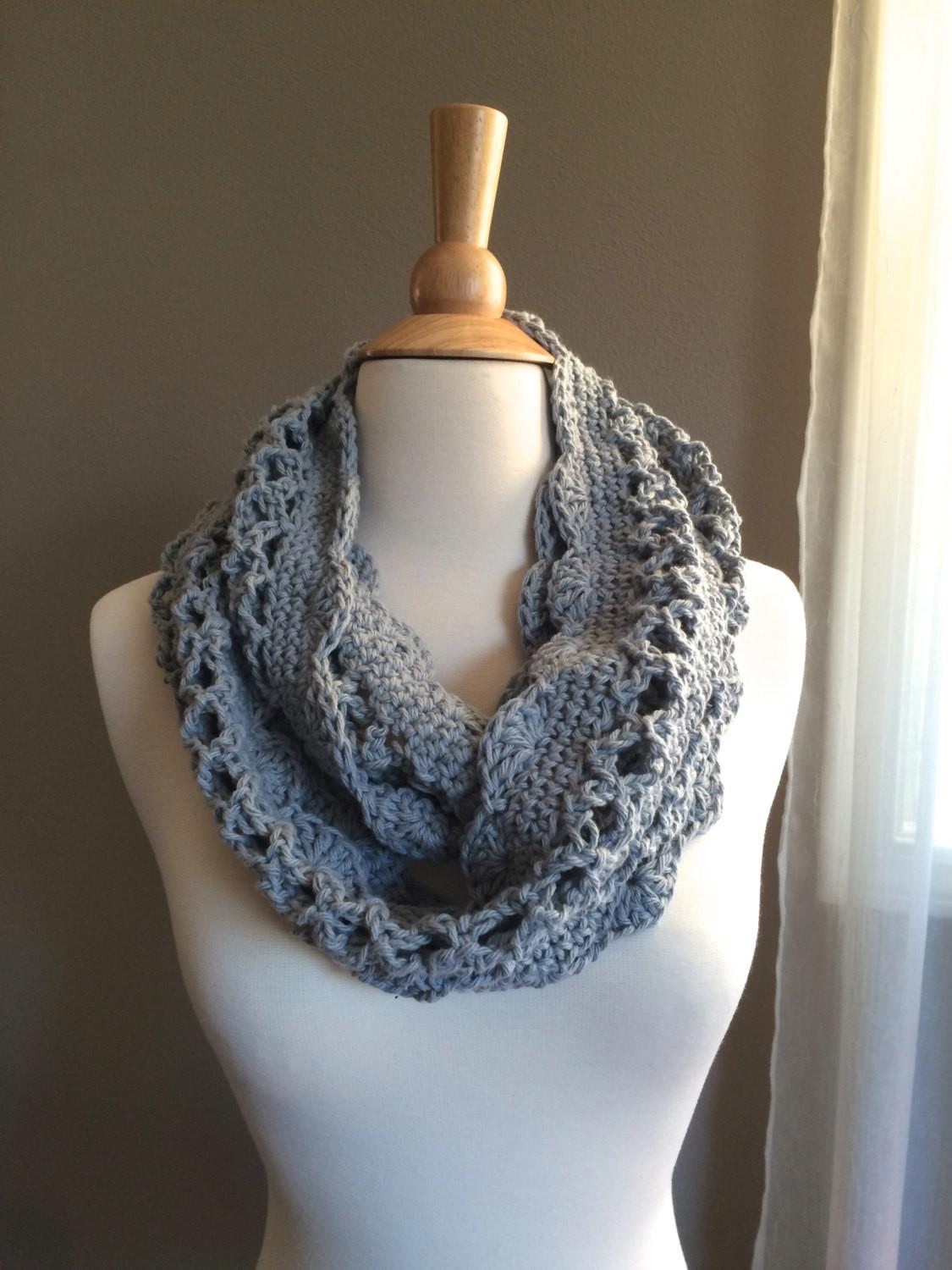Diy Crochet Pattern Spring Cowl Scarf Light Weight