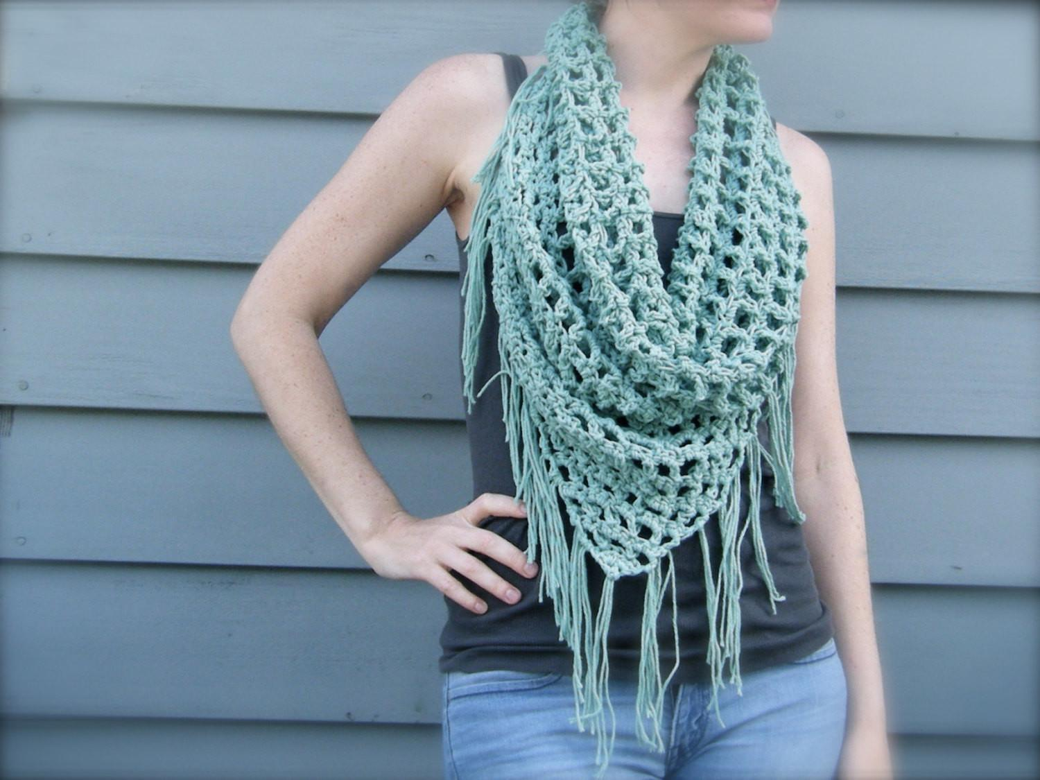 Diy Crochet Pattern Summer Scarf Triangle Bandana