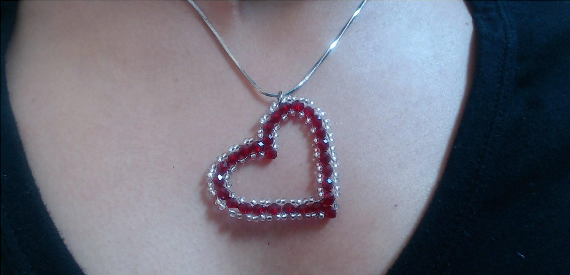 Diy Crystal Heart Pendant Quick Easy Valentine