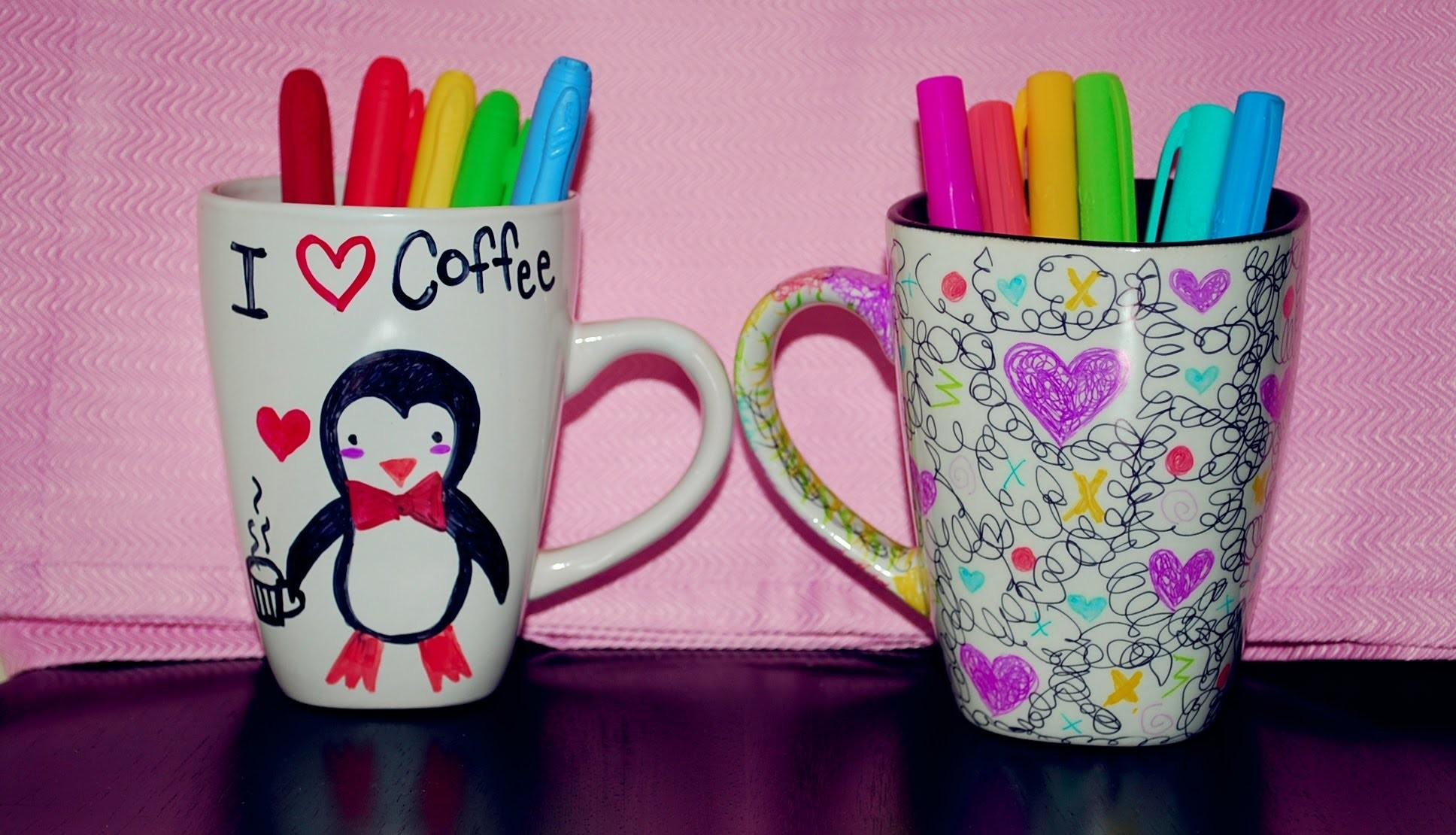 Diy Cup Decoration Sharpies