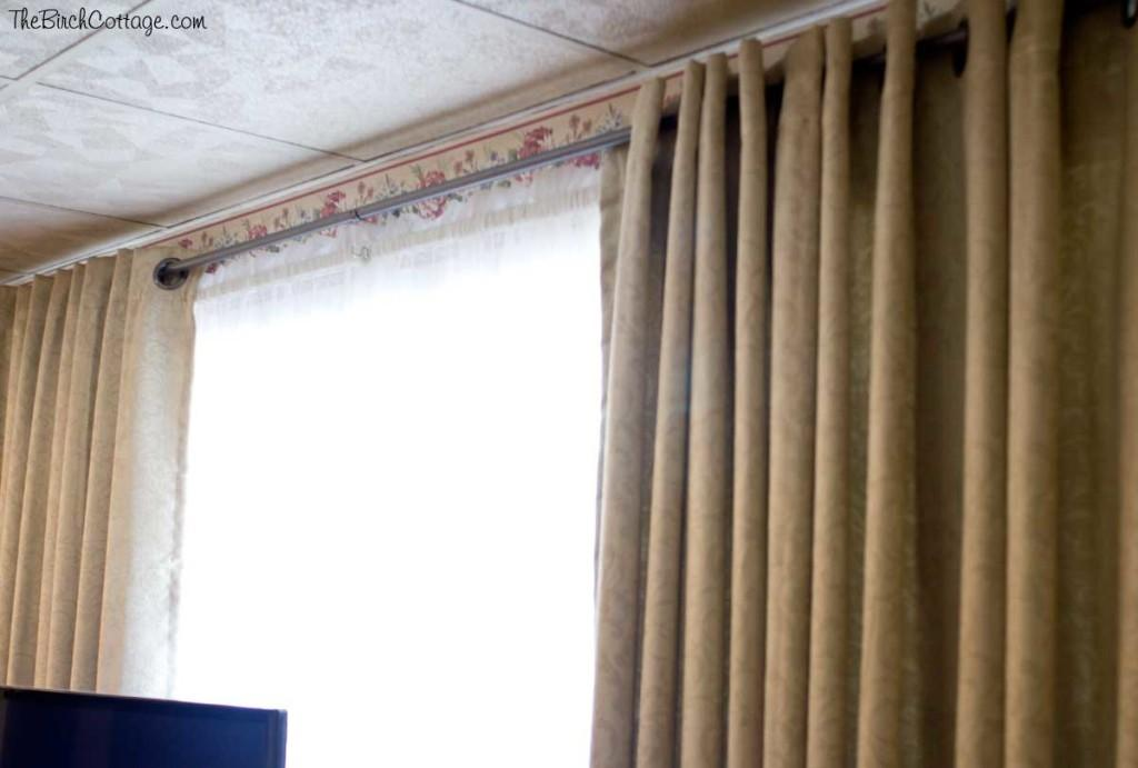 Diy Curtain Rod Large Window Cheap