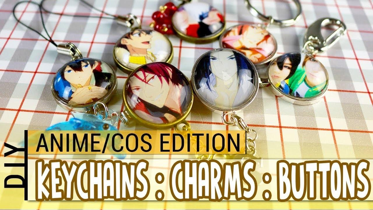 Diy Custom Keychains Buttons Phonecharms Anime