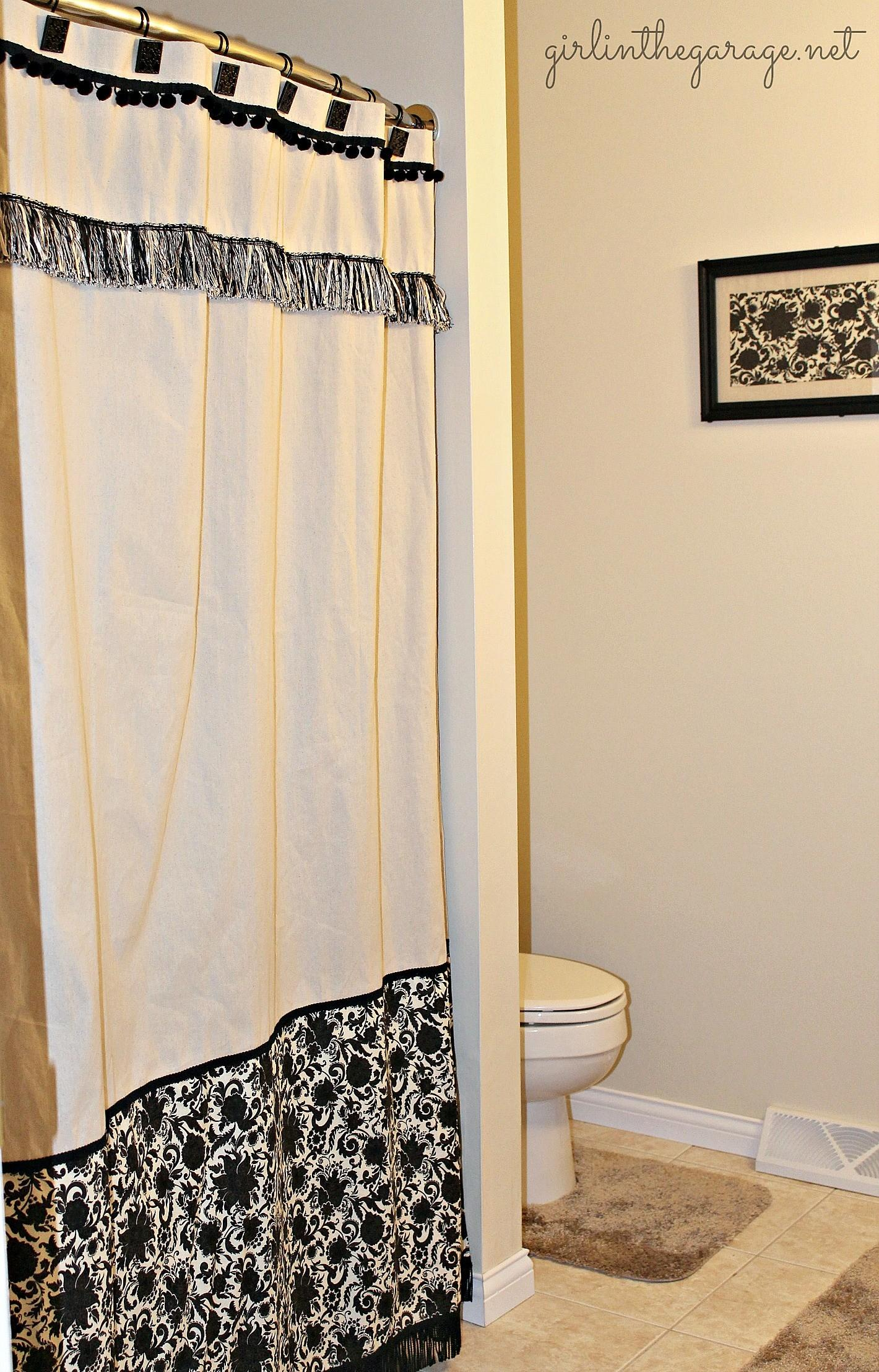 Diy Custom Shower Curtain Girl Garage