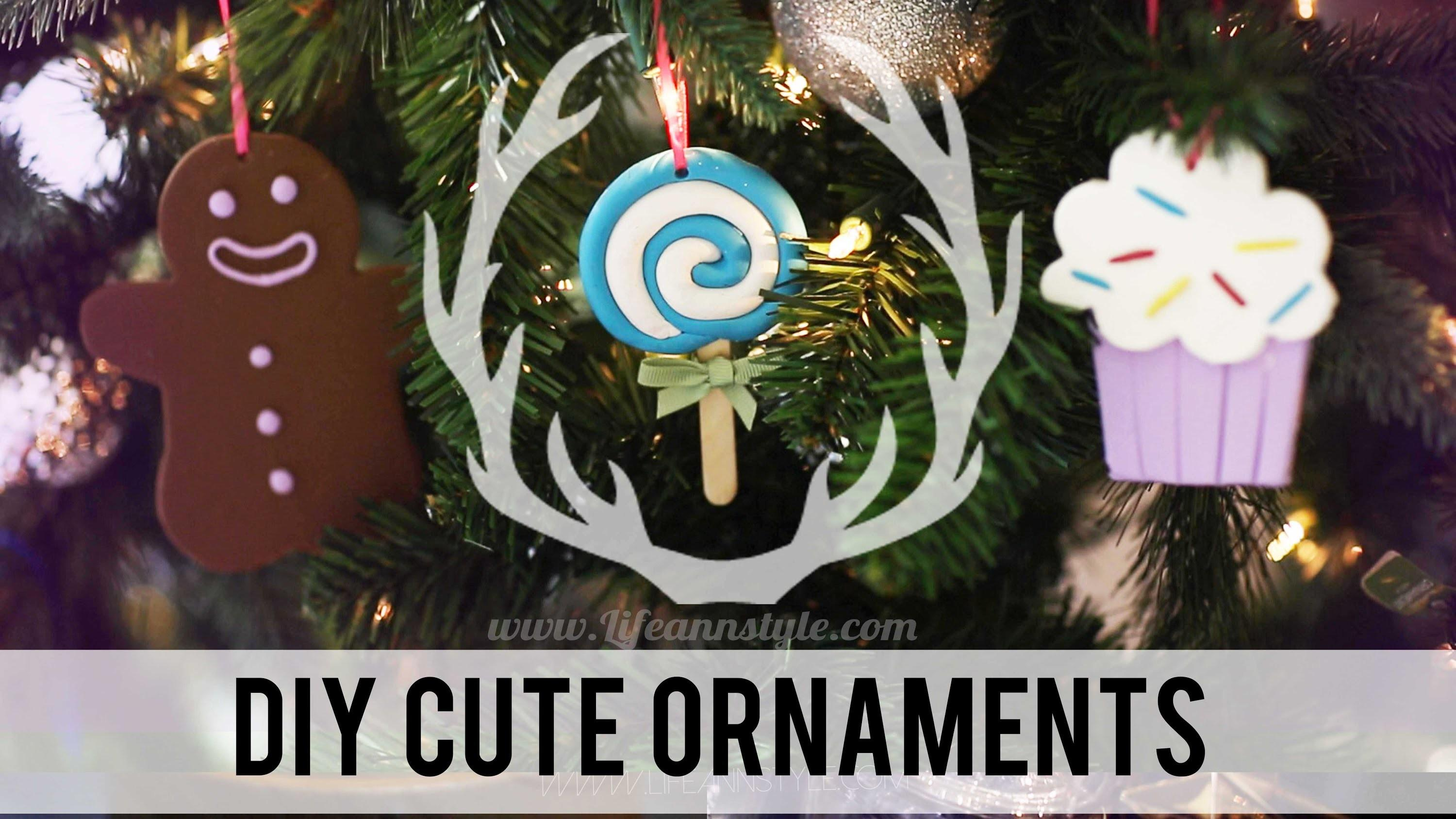 Diy Cute Polymer Clay Christmas Ornaments Anneorshine