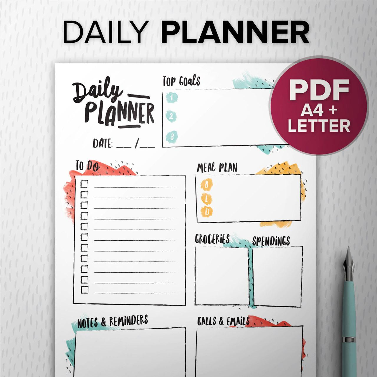 Diy Daily Planner Your Self