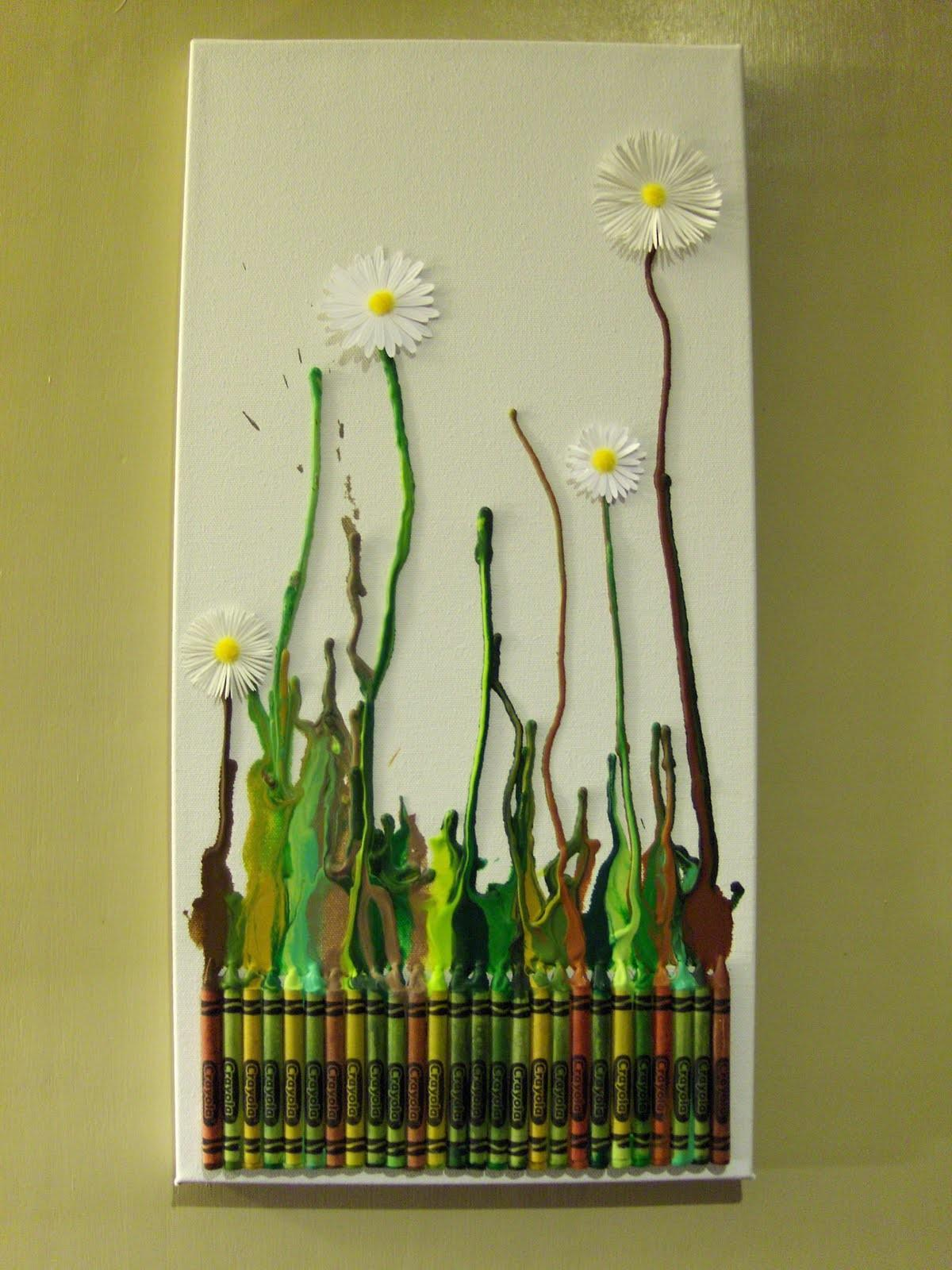 Diy Daisy Crayon Art All Gifts Considered