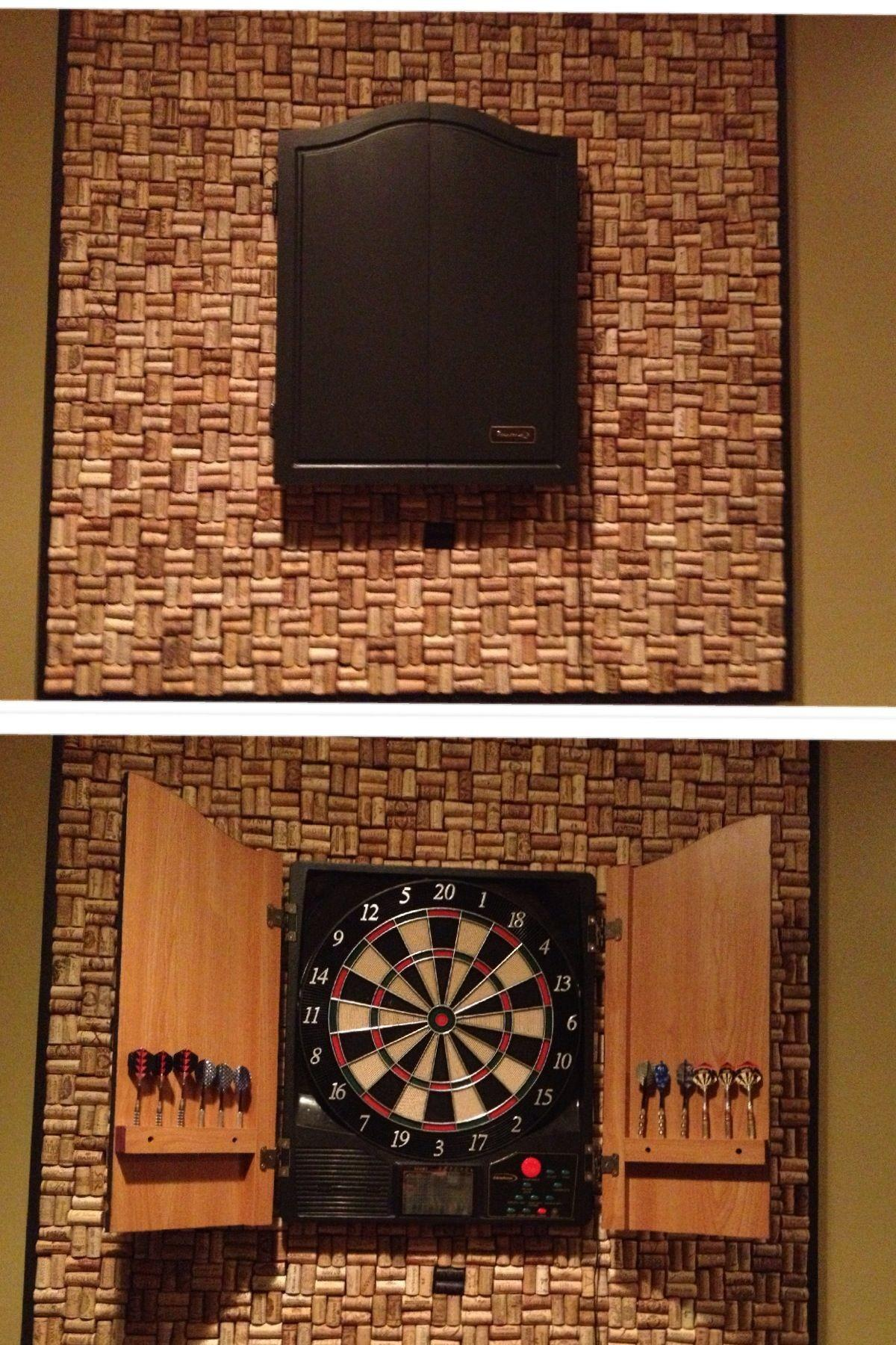 Diy Dart Board Surround Made Wine Corks Those