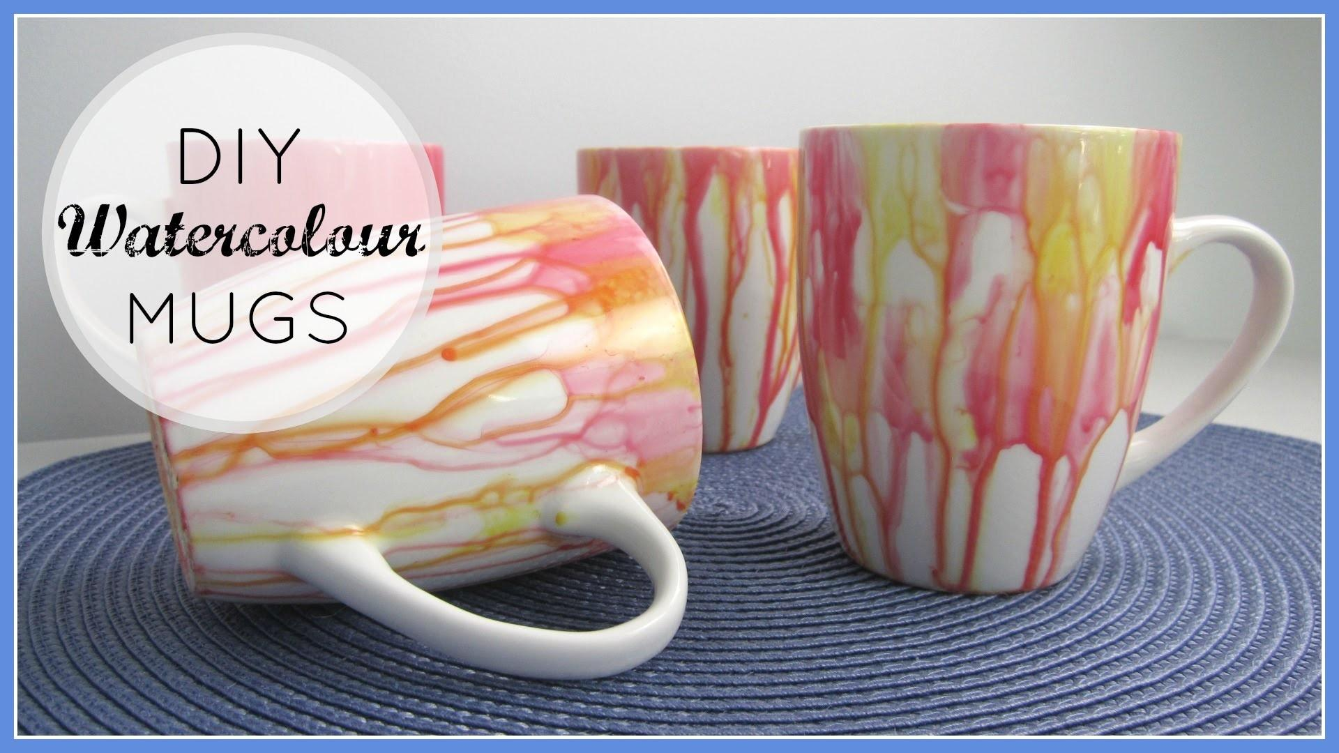 Diy Decor Gifts Watercolour Mugs