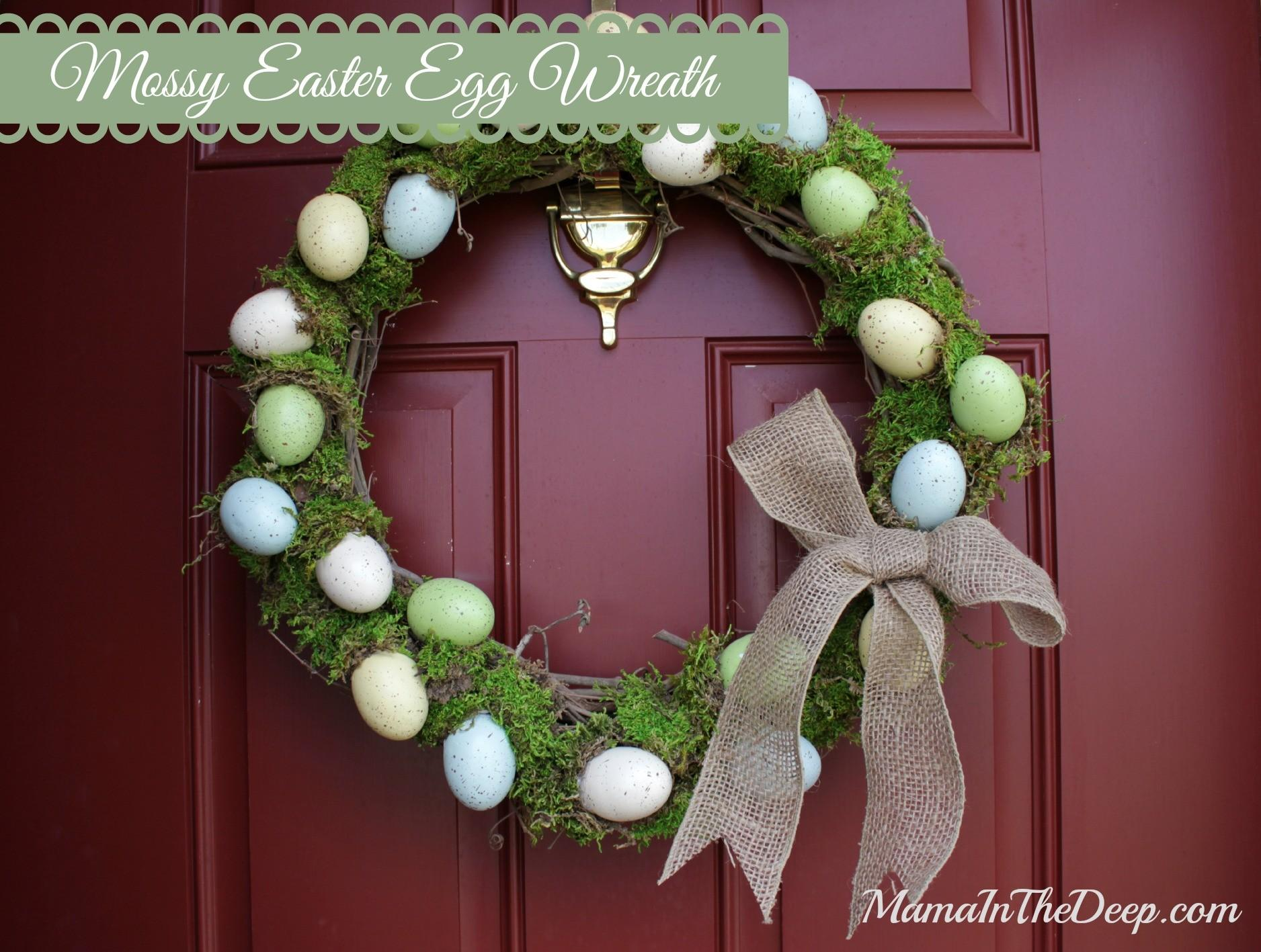 Diy Decor Mossy Easter Egg Wreath