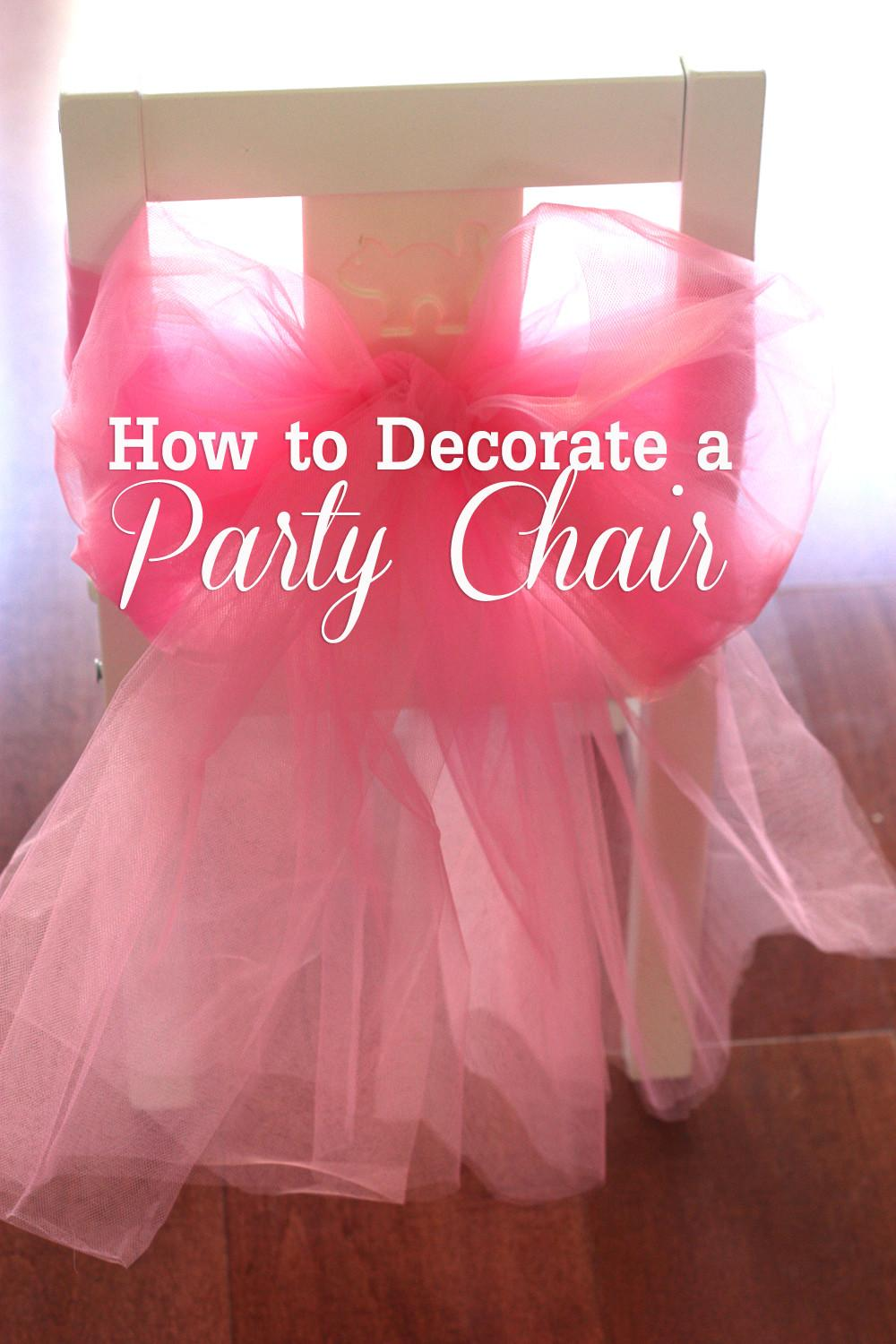 Diy Decorate Princess Party Chair Catch