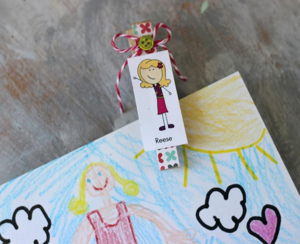 Diy Decorative Clothespin Crafts Ribbons Glue