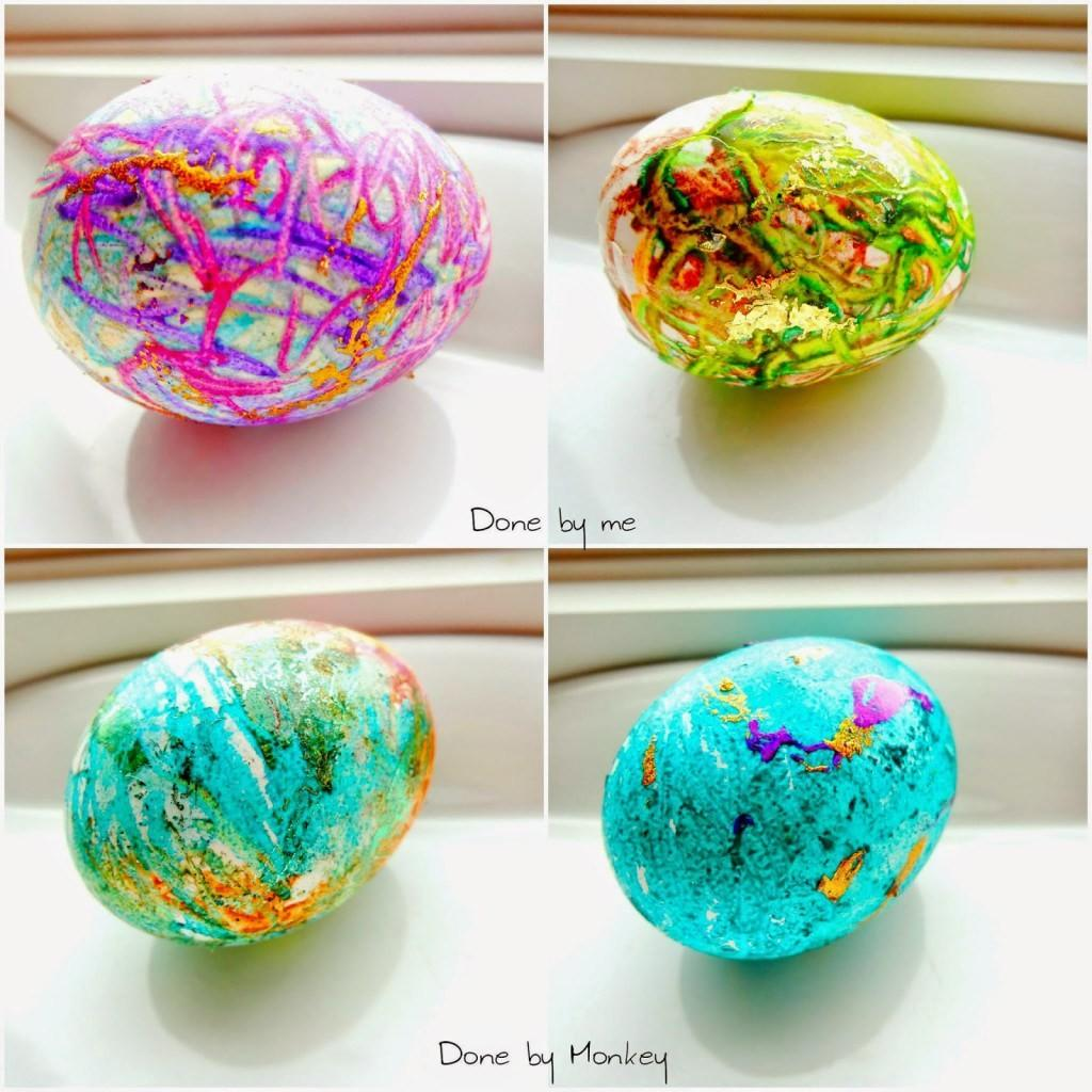 Diy Decorative Easter Eggs Melted Crayons Belle Vie