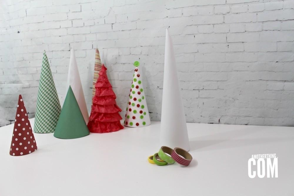 Diy Decorative Paper Christmas Trees Mother Thing