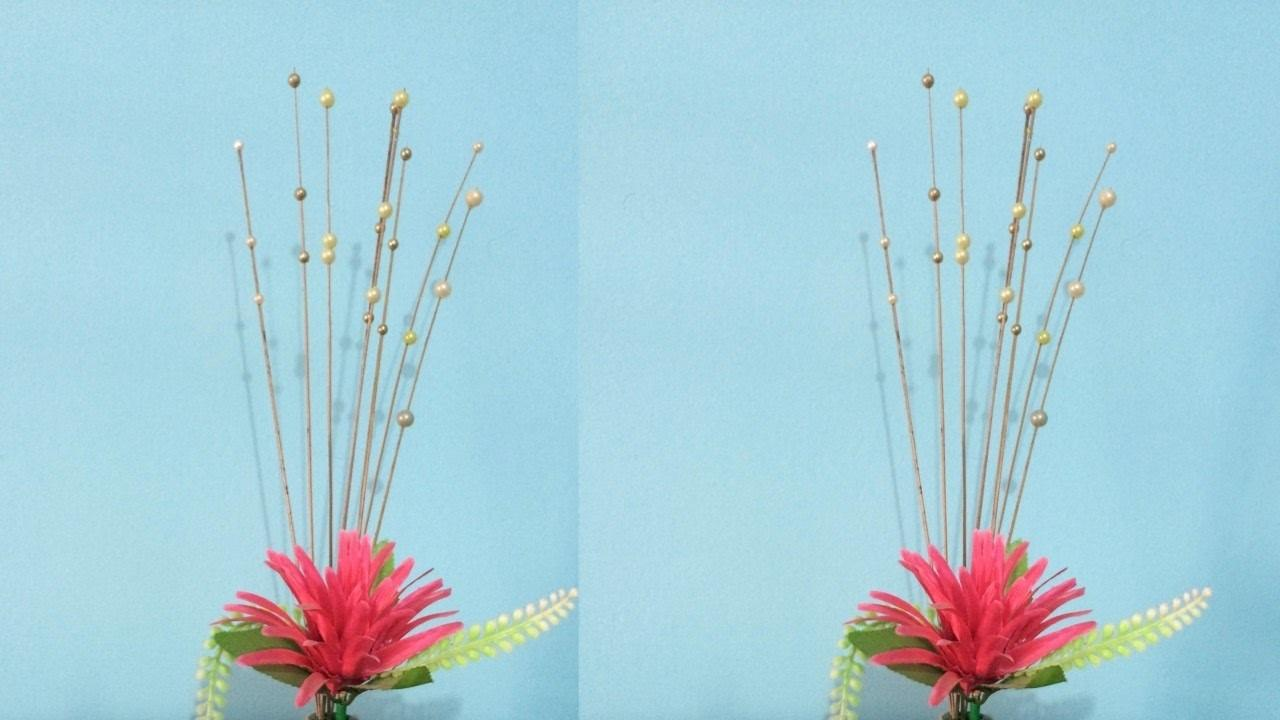 Diy Decorative Pearls Sticks Flower Vase