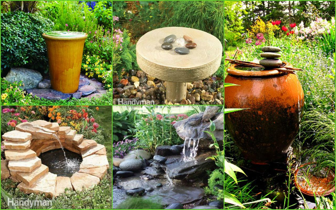 Diy Design Outdoor Fountains Ideas Water Feature