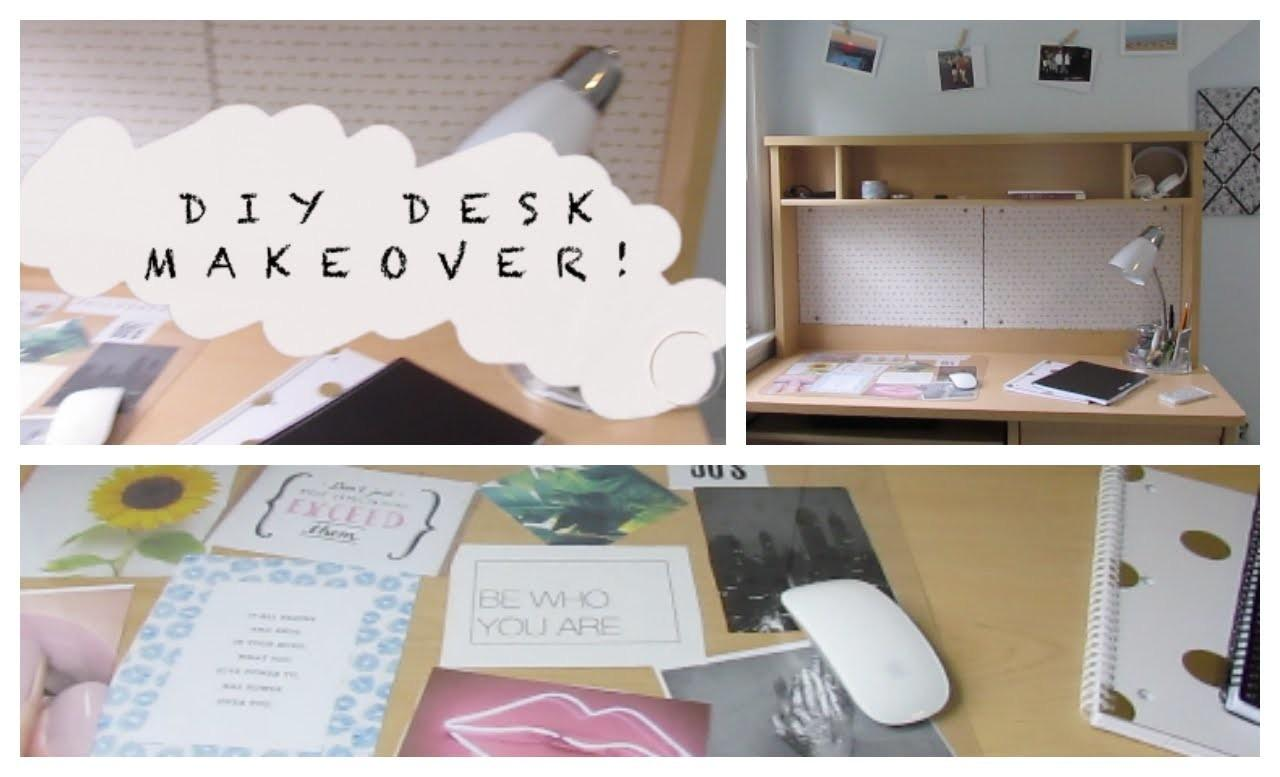 Diy Desk Makeover Back School