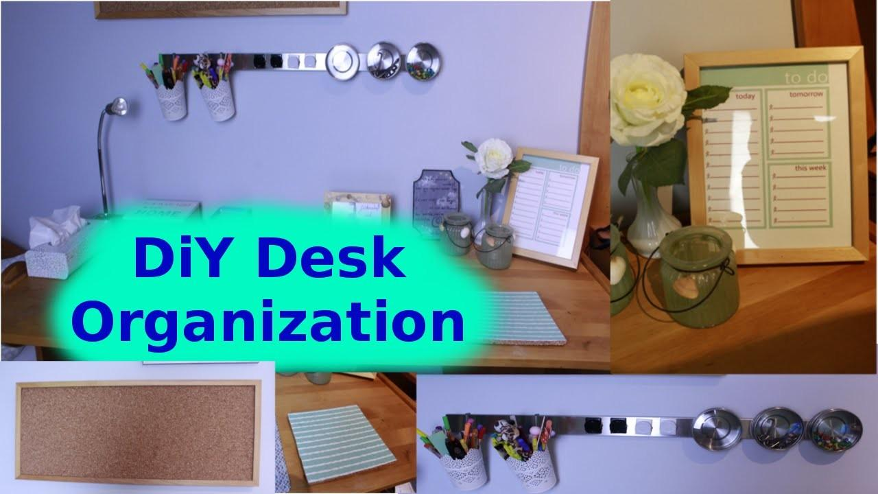 Diy Desk Organization Decor Makeover