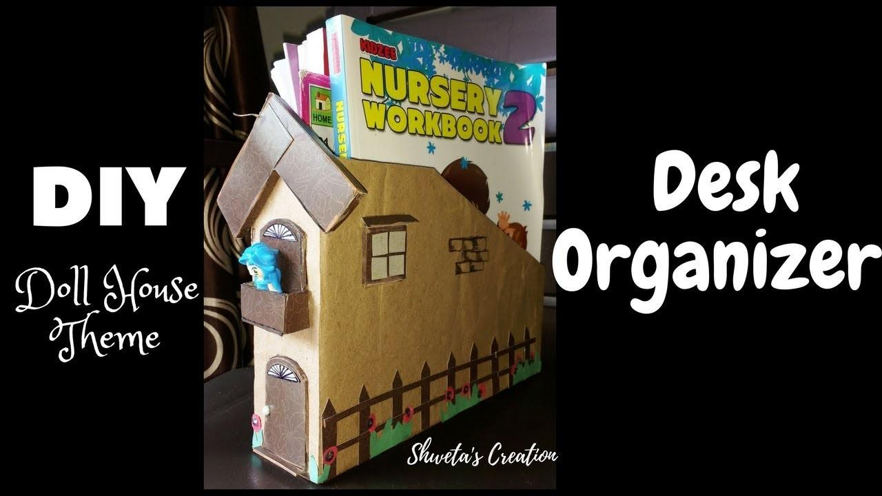 Diy Desk Organizer Cereal Box Best Out Waste