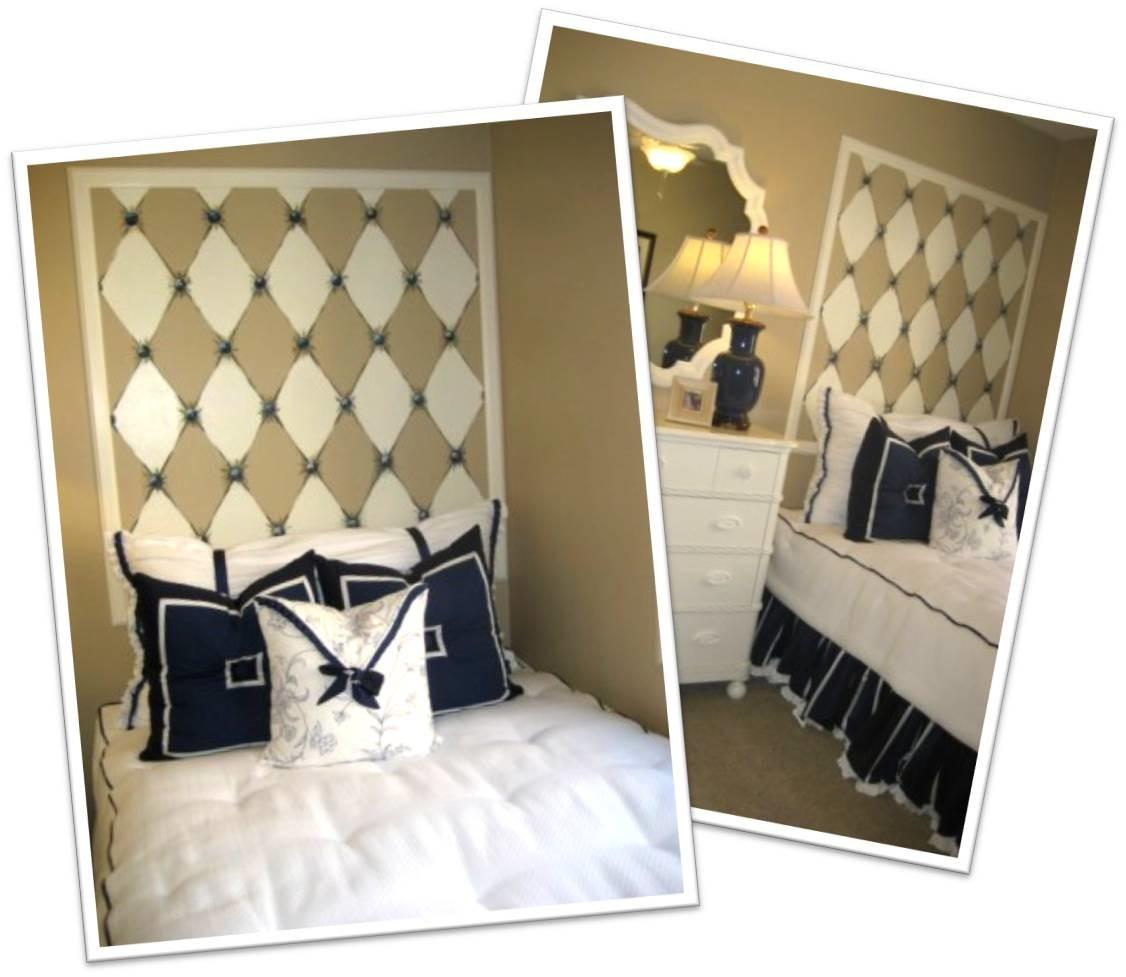 Diy Diamond Headboard Faux Tufted Wall
