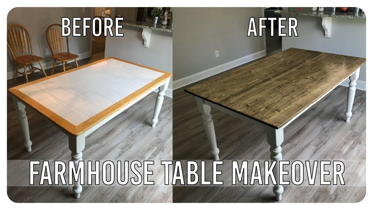 Diy Dining Room Table Makeover Farmhouse Edition