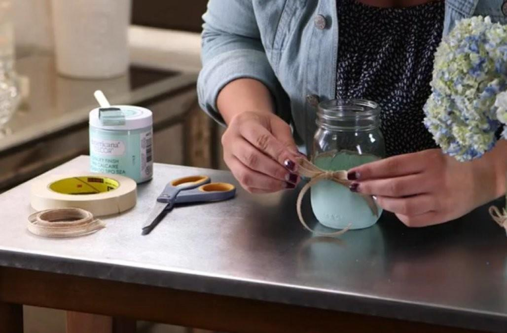 Diy Dipped Mason Jars Want Make Your Friends