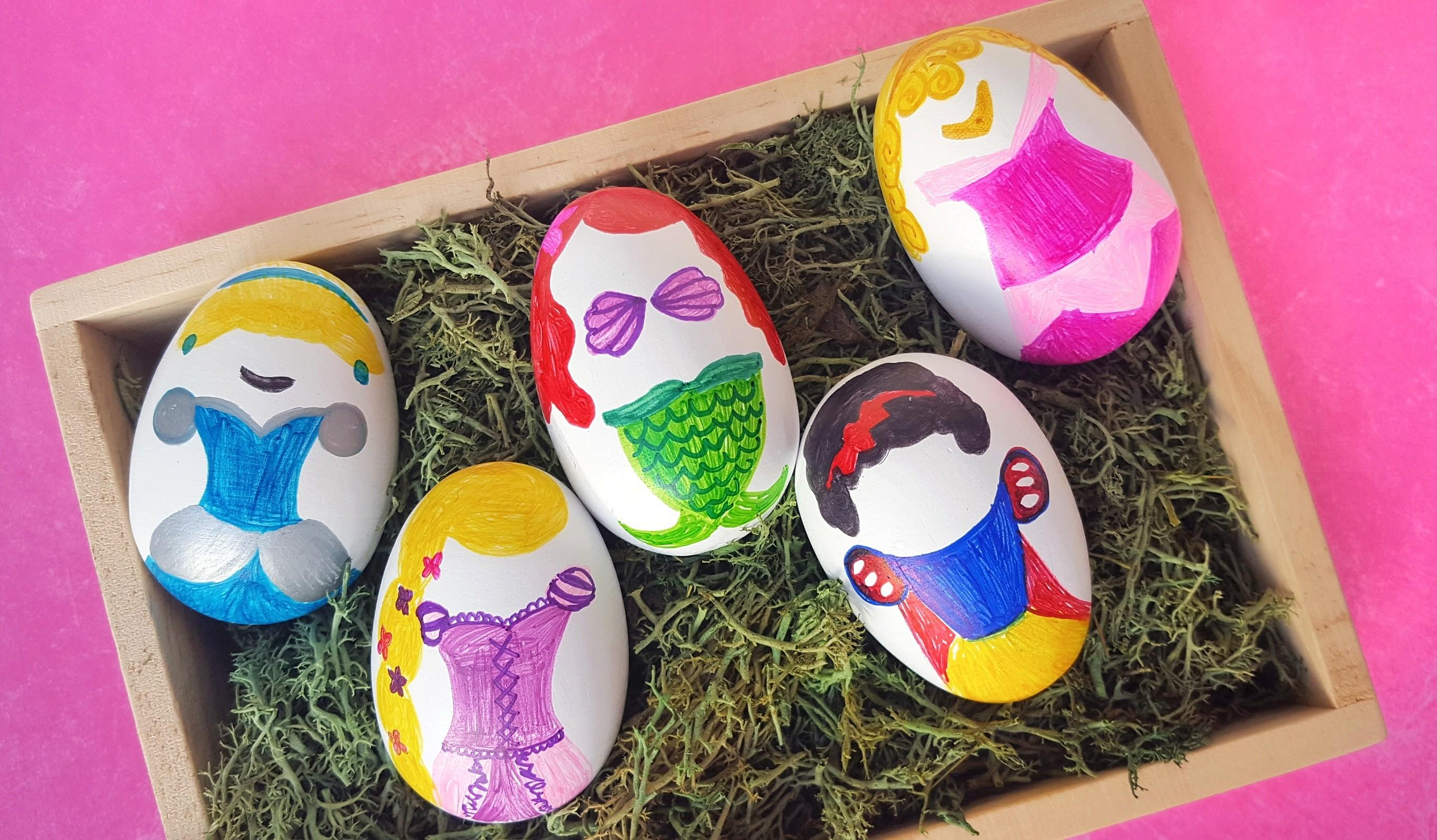 Diy Disney Princess Inspired Easter Eggs Mommy