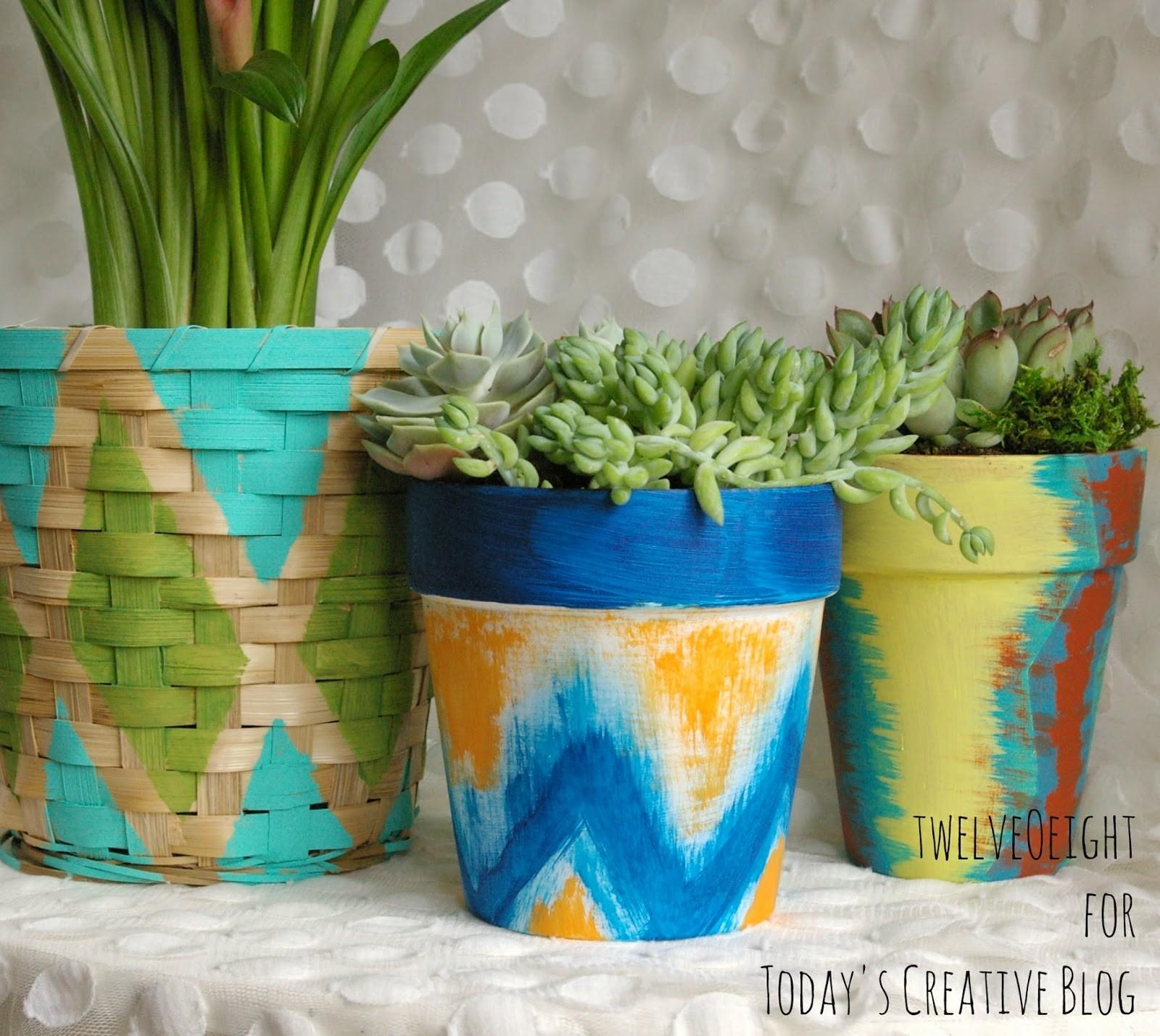 Diy Distressed Gold Leaf Terracotta Pots Today