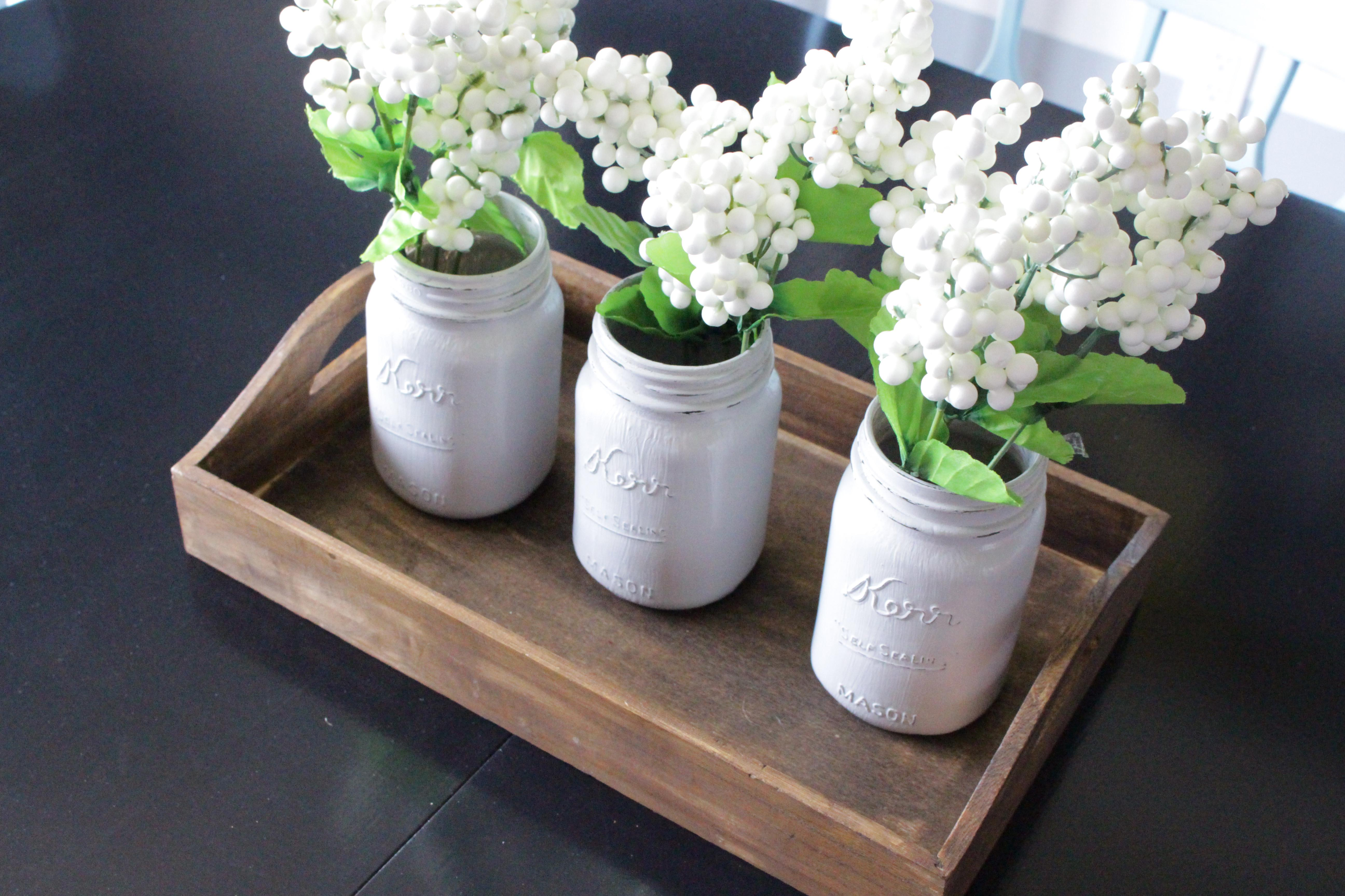 Diy Distressed Painted Mason Jars Simply House Home