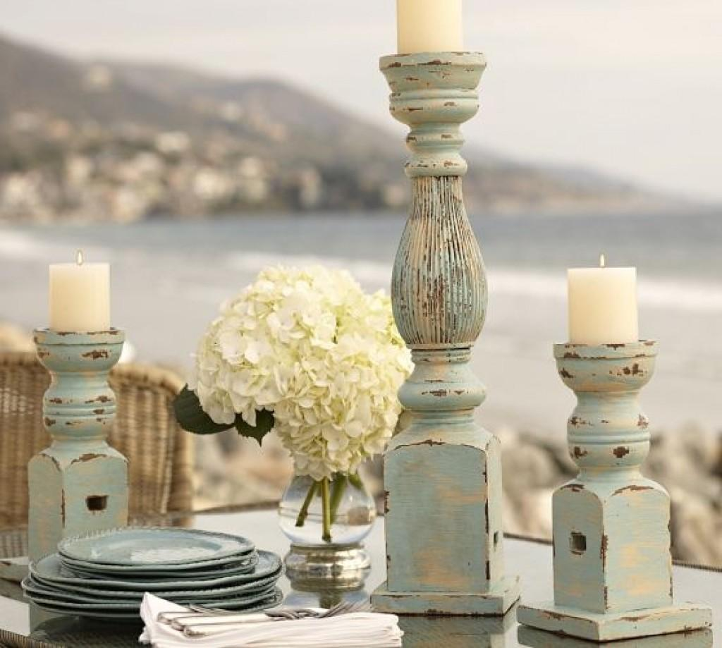 Diy Distressed Pillar Candle Holders Wood