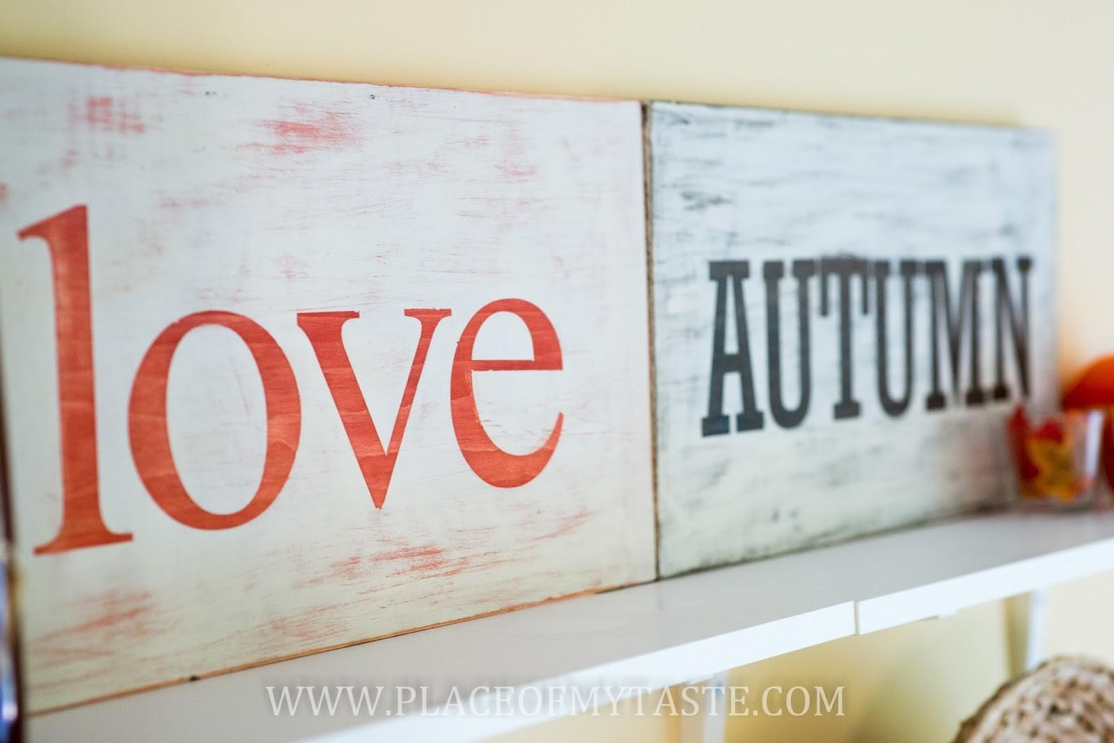 Diy Distressed Sign Tutorial Place Taste