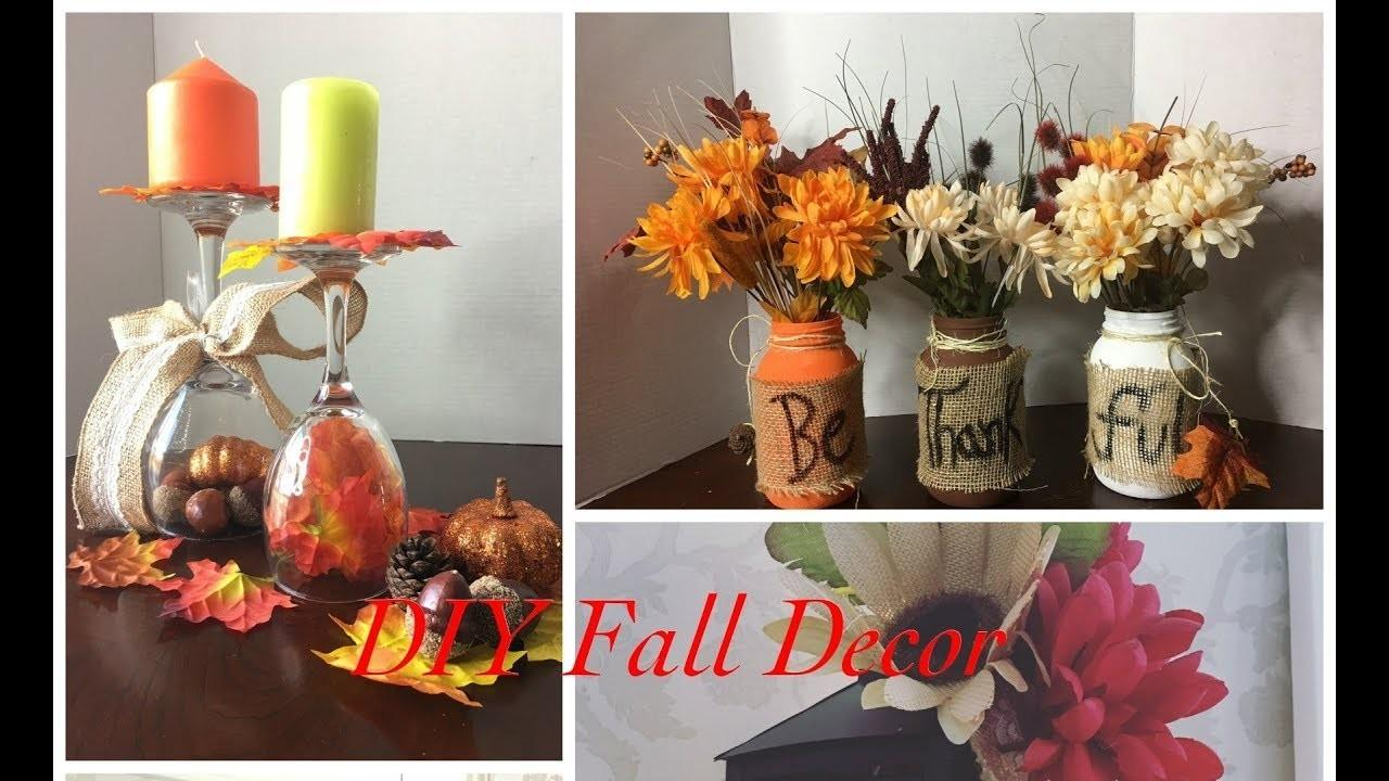 Diy Dollar Store Fall Decor Ideas Crafts Projects