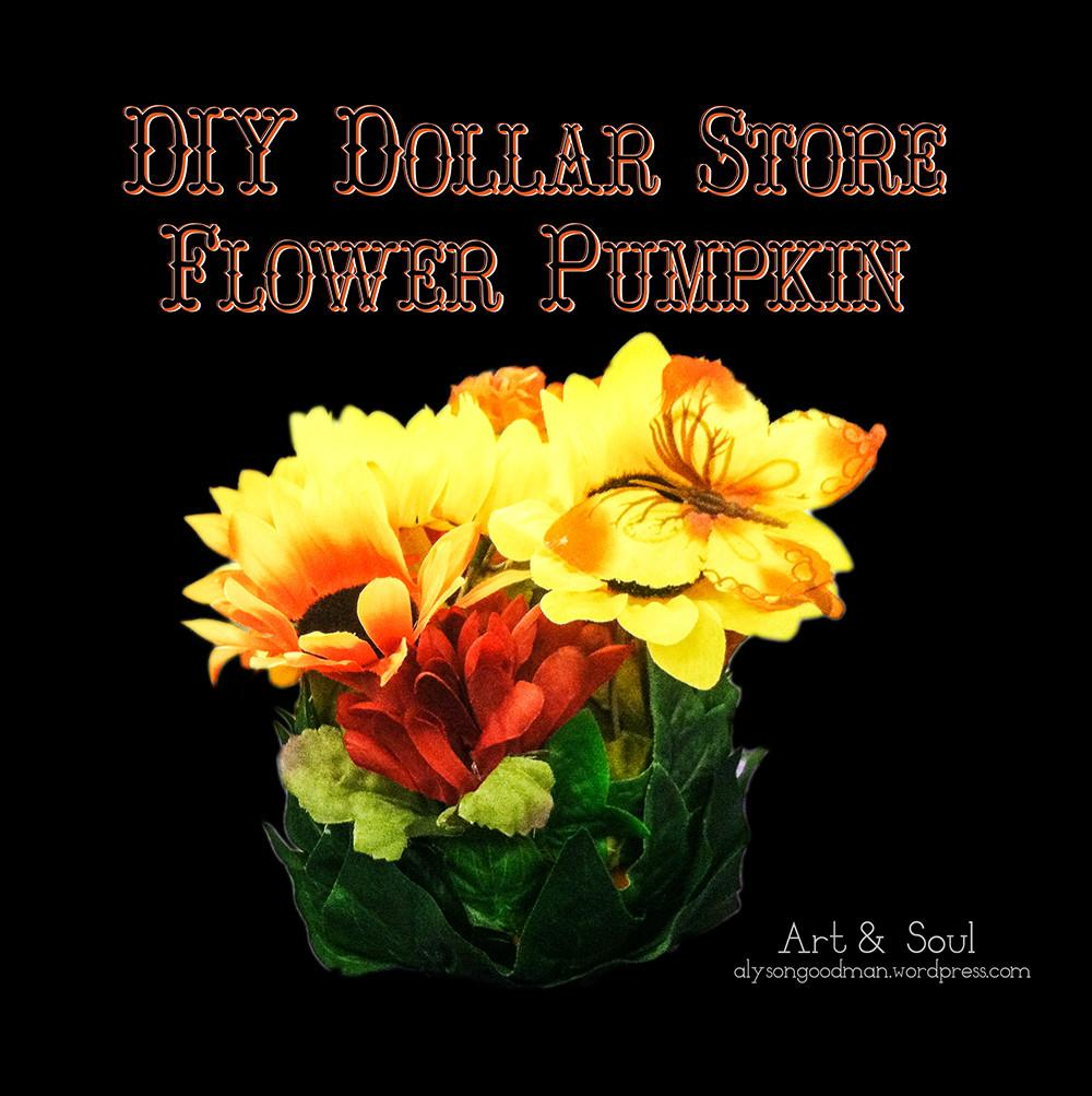 Diy Dollar Store Flower Pumpkin Sky Blue Pink