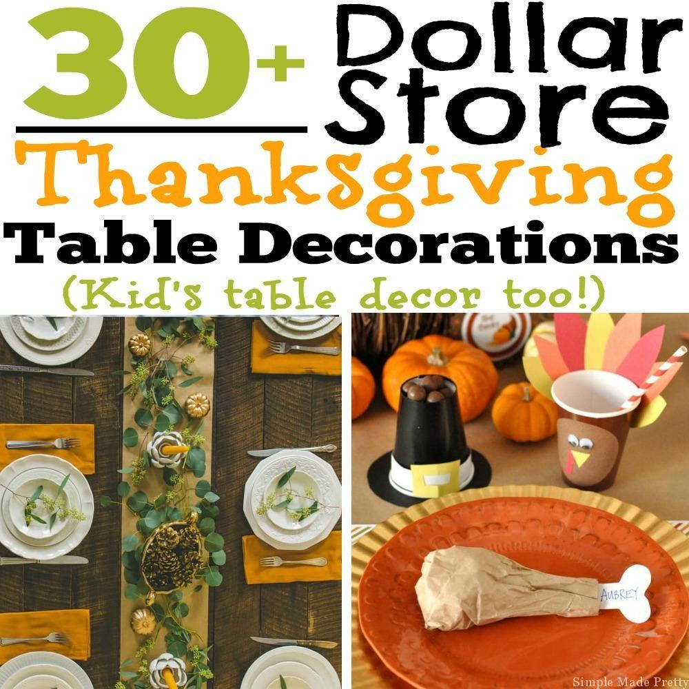 Diy Dollar Store Thanksgiving Table Decorations