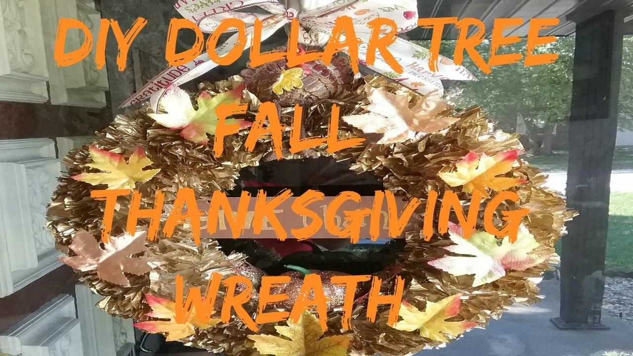 Diy Dollar Tree Fall Thanksgiving Wreath