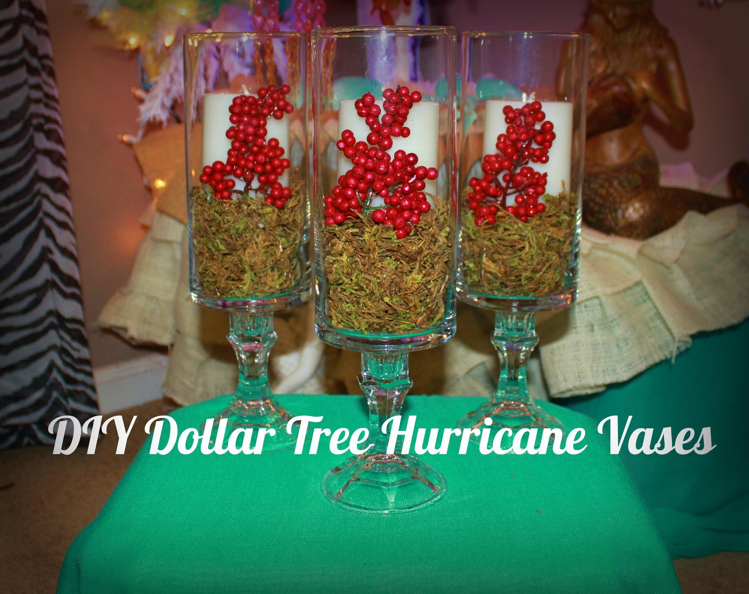 Diy Dollar Tree Hurricane Vases Christmas