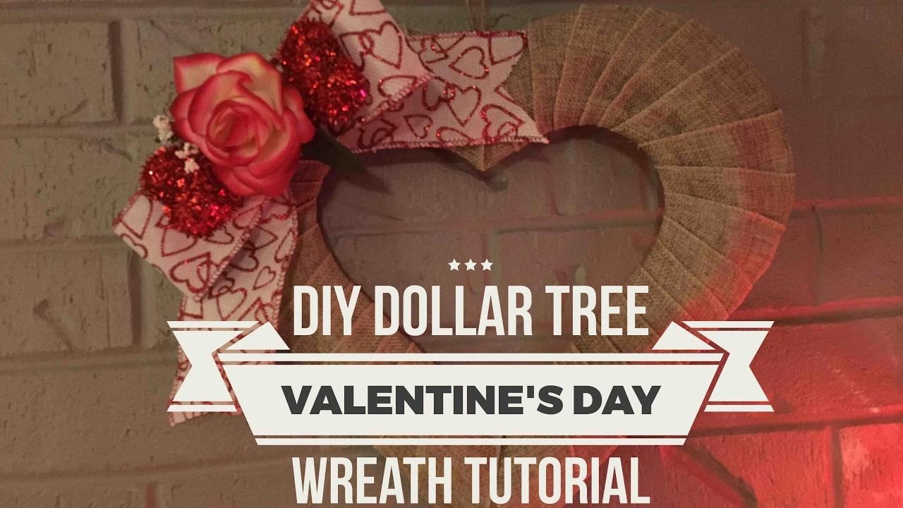 Diy Dollar Tree Valentine Day Wreath Tutorial February