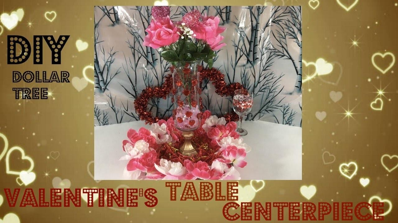 Diy Dollar Tree Valentine Table Centerpiece