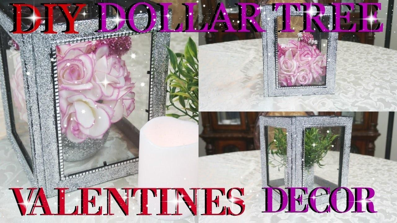 Diy Dollar Tree Valentines Day Glitter Lantern Decor 2017