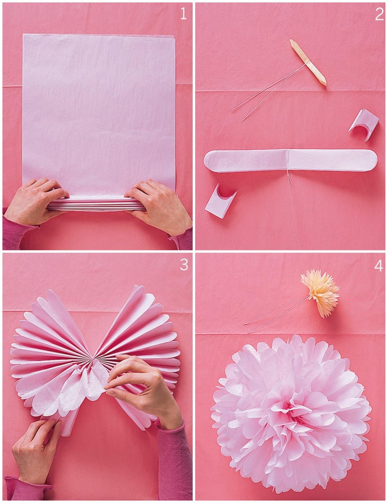 Diy Don Tutorial Tissue Paper Pom Poms