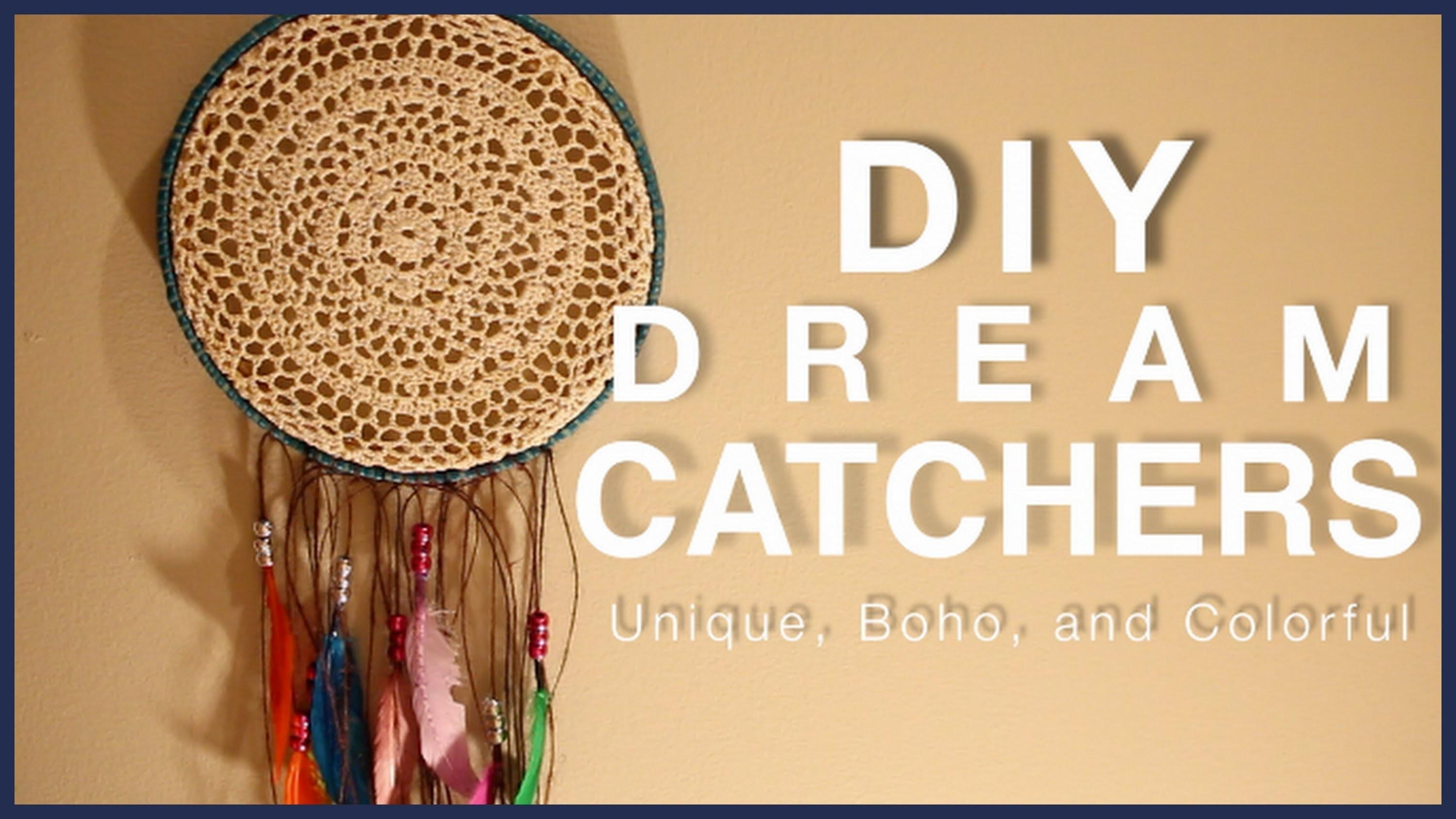 Diy Dream Catchers Unique Bohemian Colorful