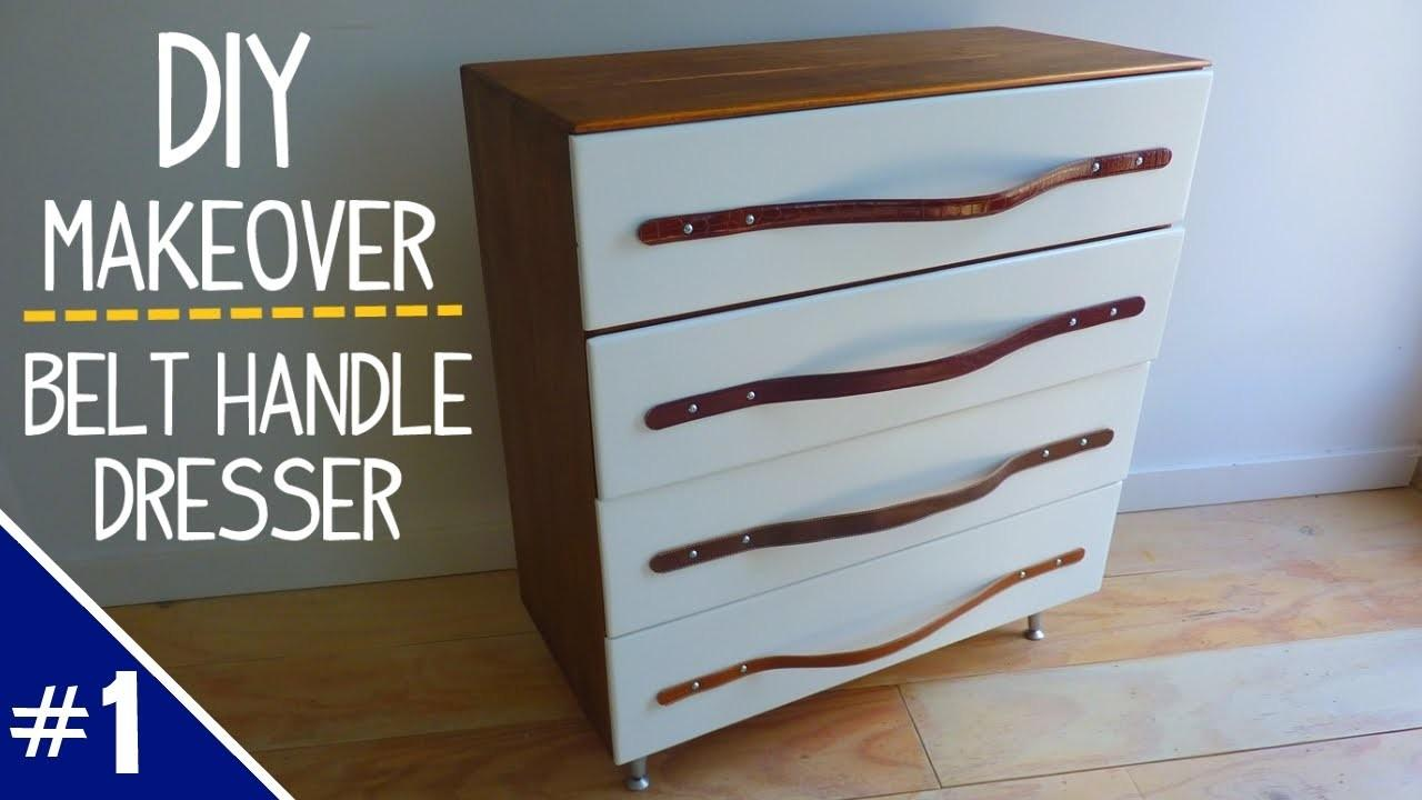 Diy Dresser Makeover Leather Belt Handles Part