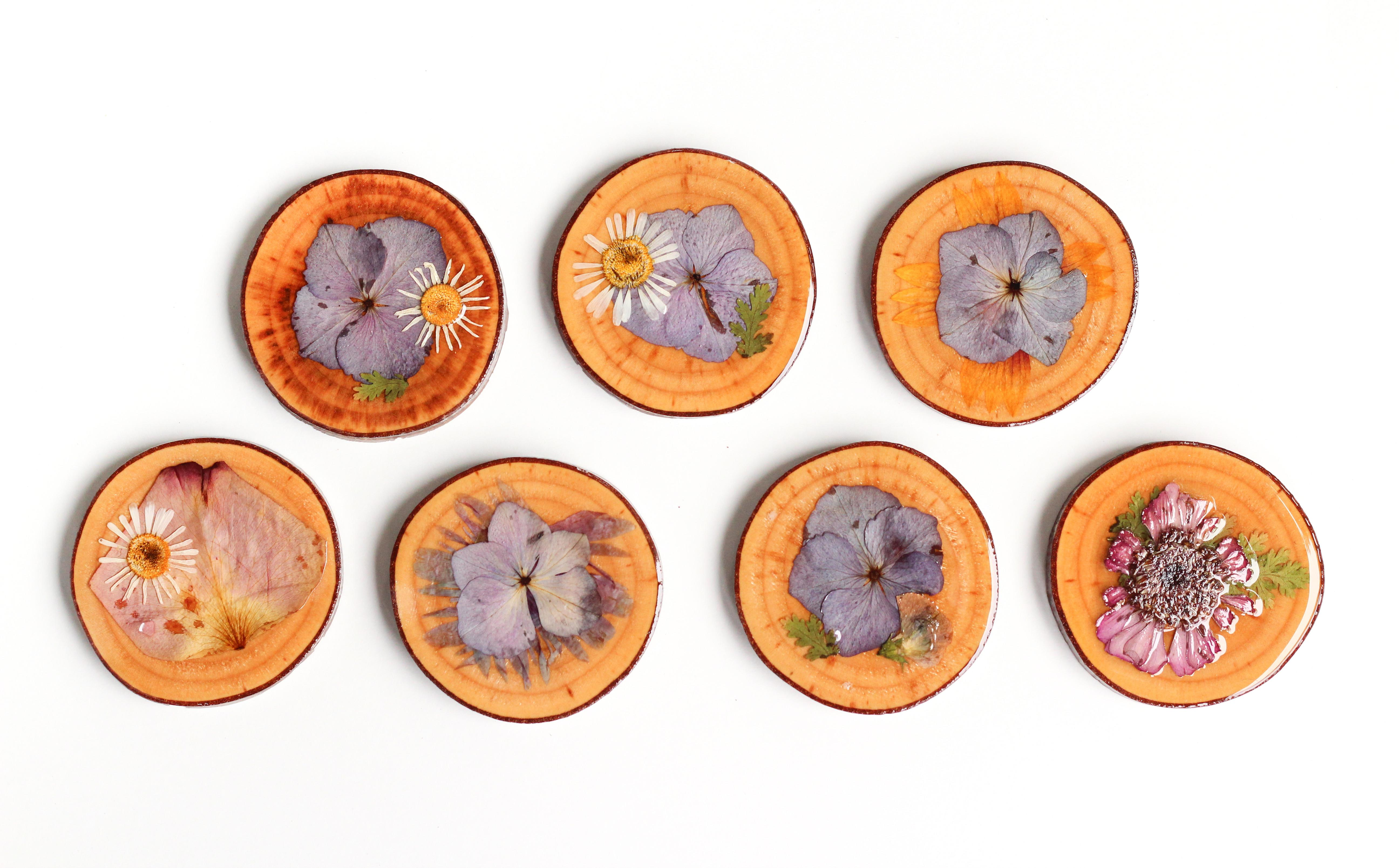 Diy Dried Flower Coasters Crafted Life