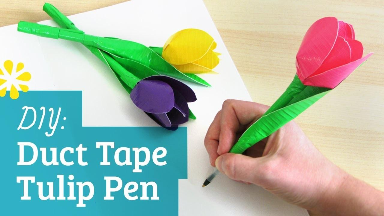 Diy Duct Tape Flower Pen Kin Collab Sea Lemon