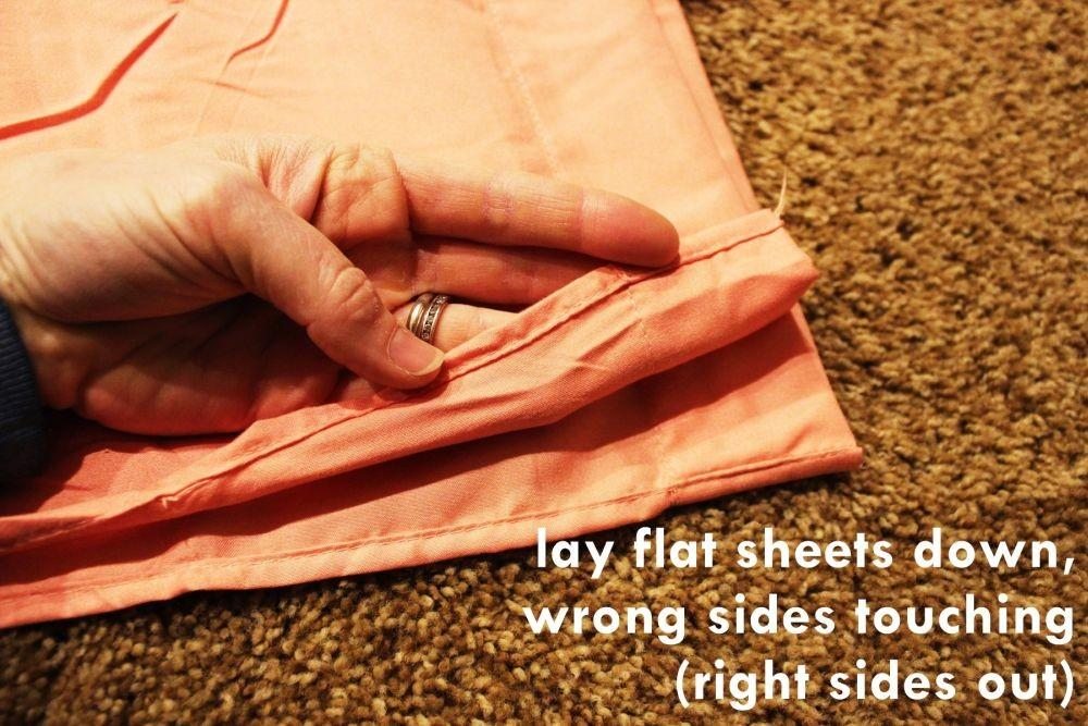 Diy Duvet Cover Easily Turn Two Flat Sheets Into