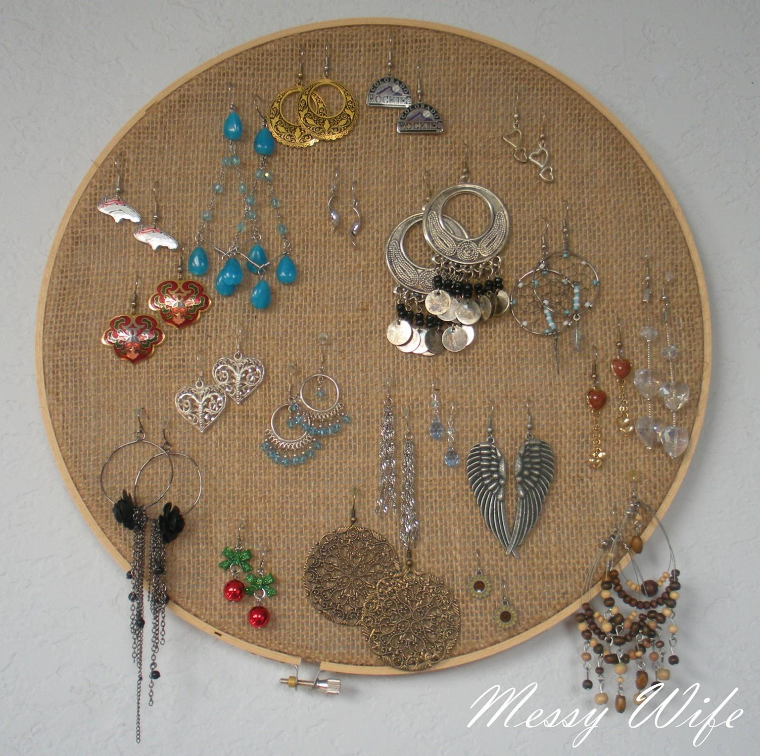Diy Earring Holder Ideas Easily Organize Jewelries